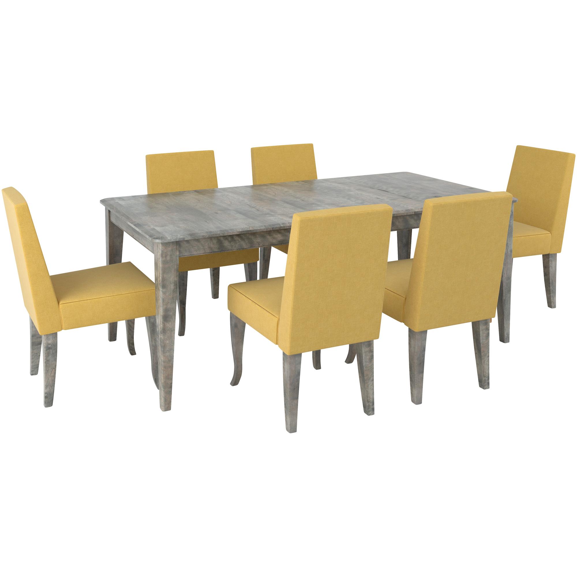 Canadel Furniture | Malibu Yellow 5 Piece Dining Set