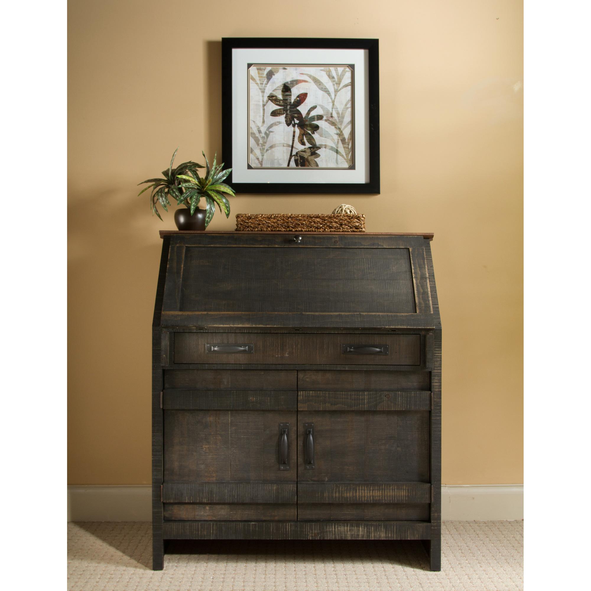 Whalen   Descanso Charcoal Drop Lid Desk