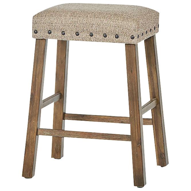 Lane Home Furnishings | Charleston Barley Oak Backless Counter Stool