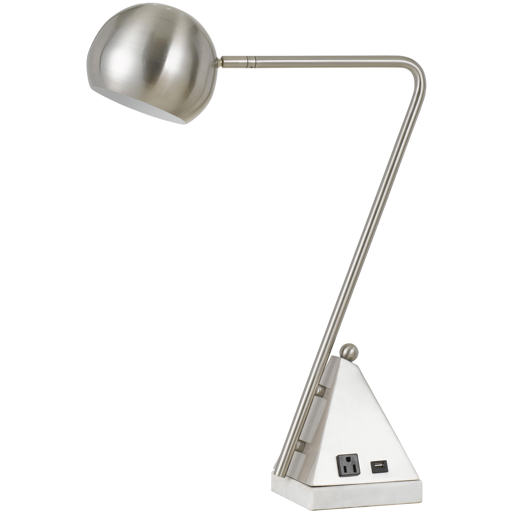 Cal Lighting | Delta Brushed Steel Table Lamp