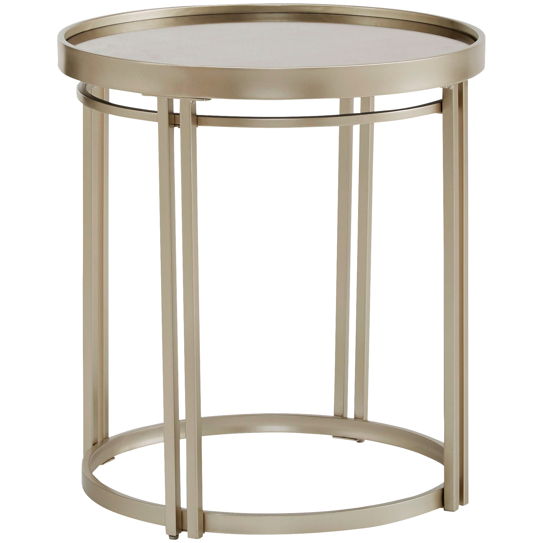 Top Line | Callie Champagne Silver End Table