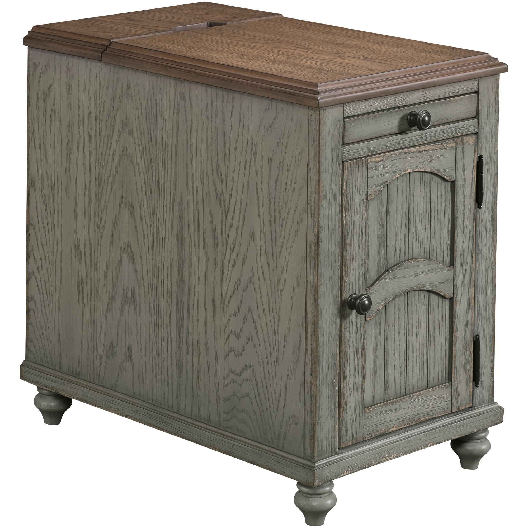 Lane Home Furnishings | Palisade Antique Gray Power Chairside Table