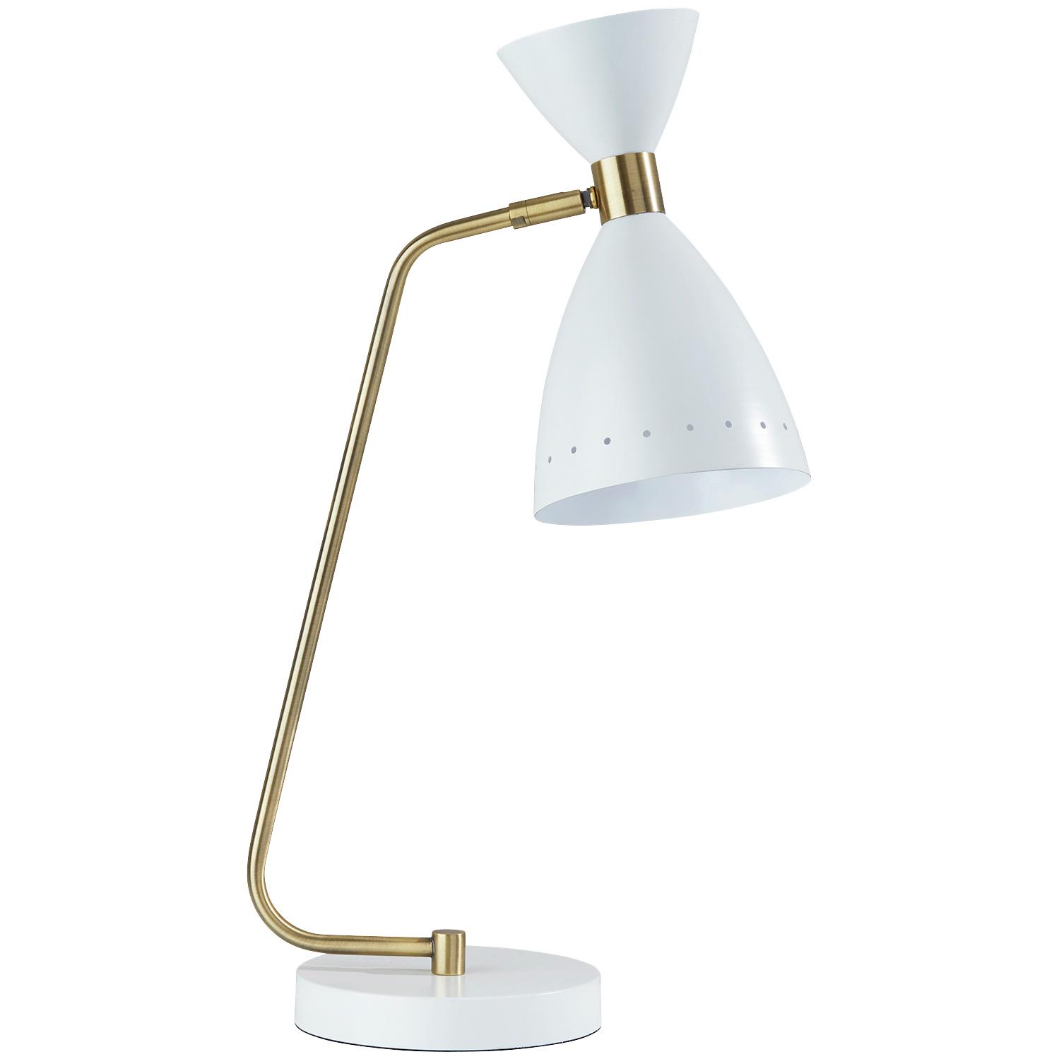 Adesso | Oscar White Desk Lamp