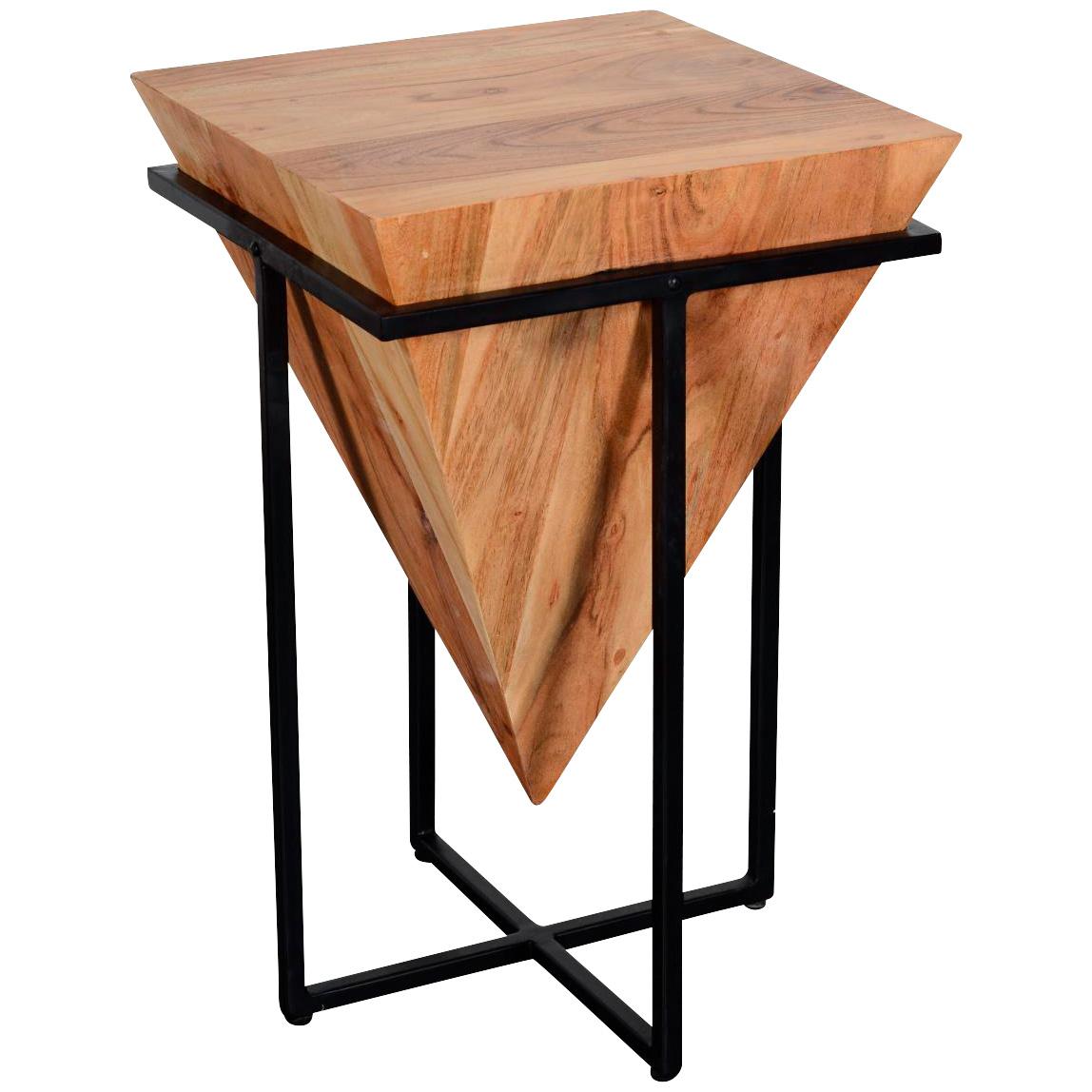 Design Destinations | Brixton Natural Medium Cube End Table