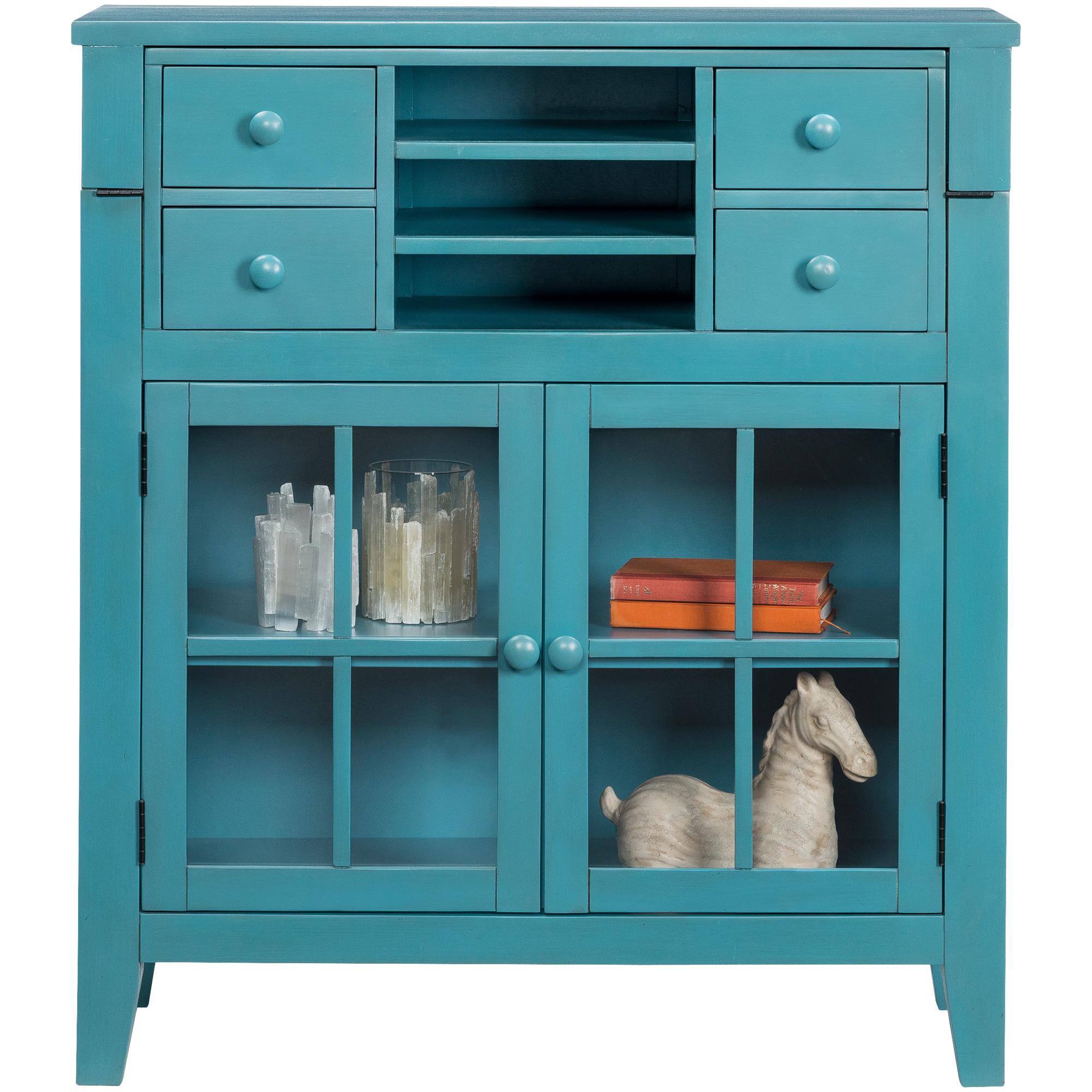 Jofran | Avery Seashore Blue Flip Top Desk