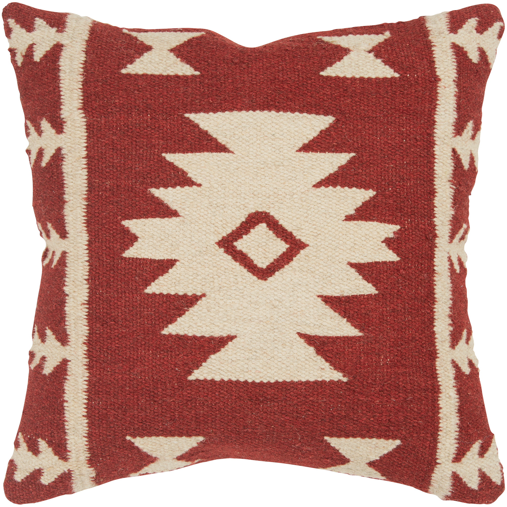 Rizzy Home | Aztec Mission Red and White Down Pillow