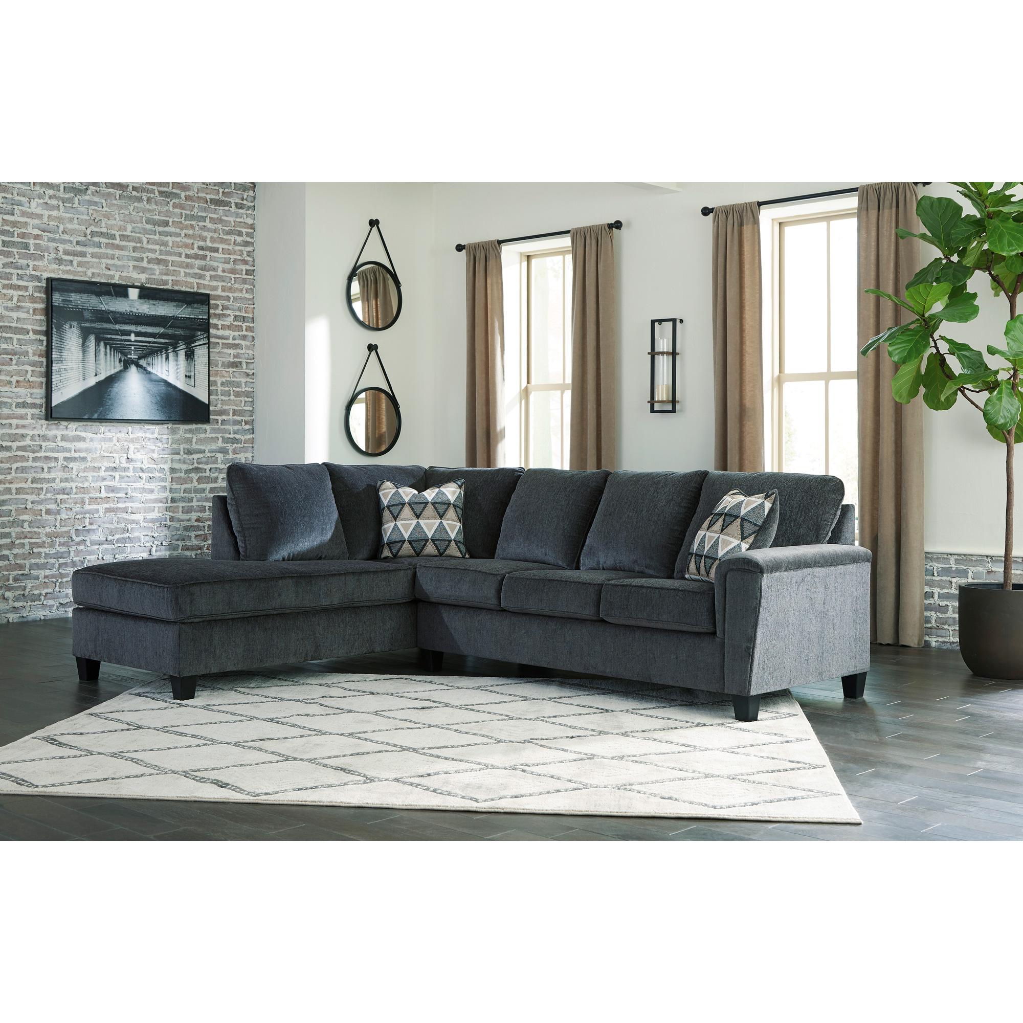 Ashley Furniture | Abinger Smoke Left Chaise Sectional Sofa
