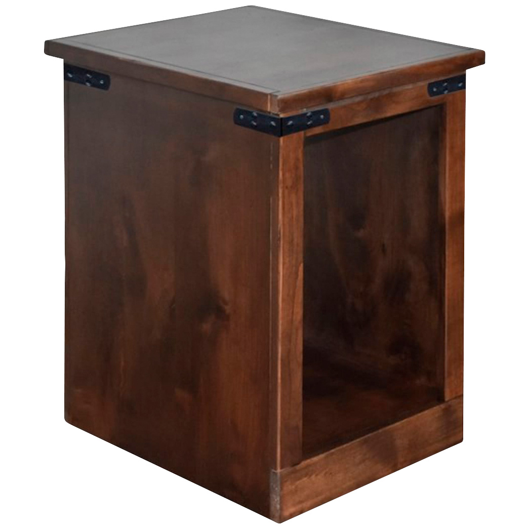 Legends   Farmhouse Aged Whiskey Chairside Table