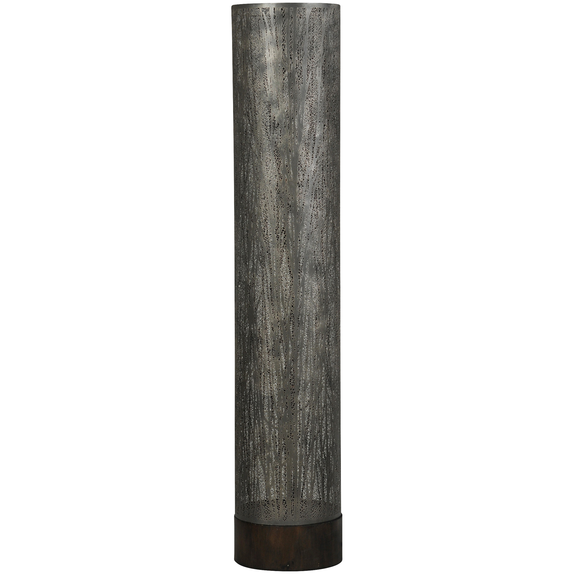 Stylecraft Home Collection | Berkley Gray Lazer Cut Trees Floor Lamp