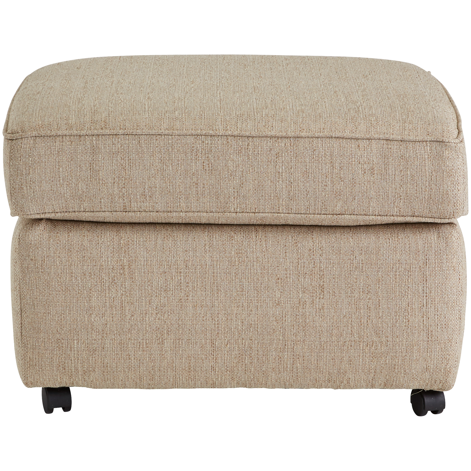 Dimensions By England | Burke Bisque Ottoman