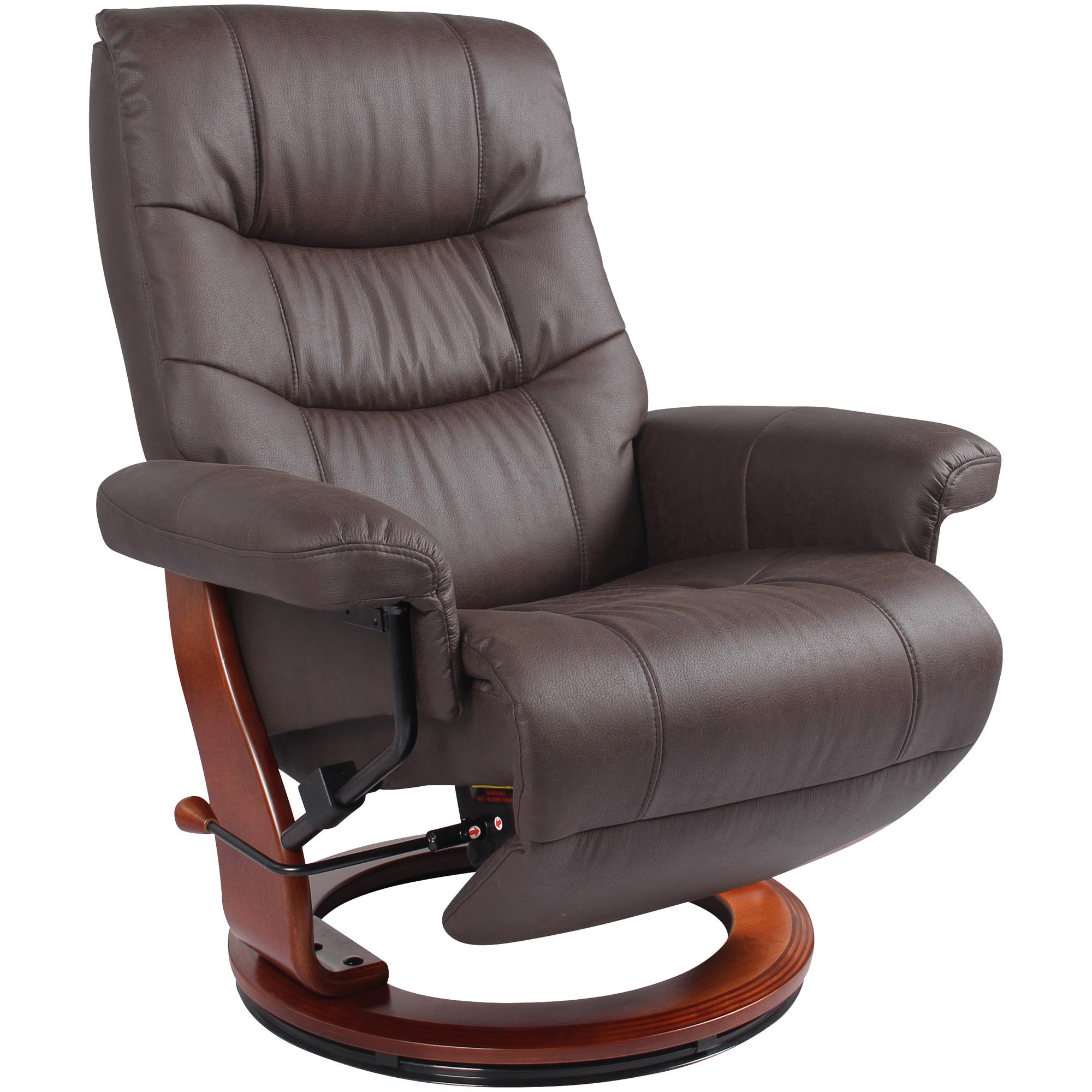 Benchmaster | Valencia Dark Brown Recliner Chair with Flip Up Footrest
