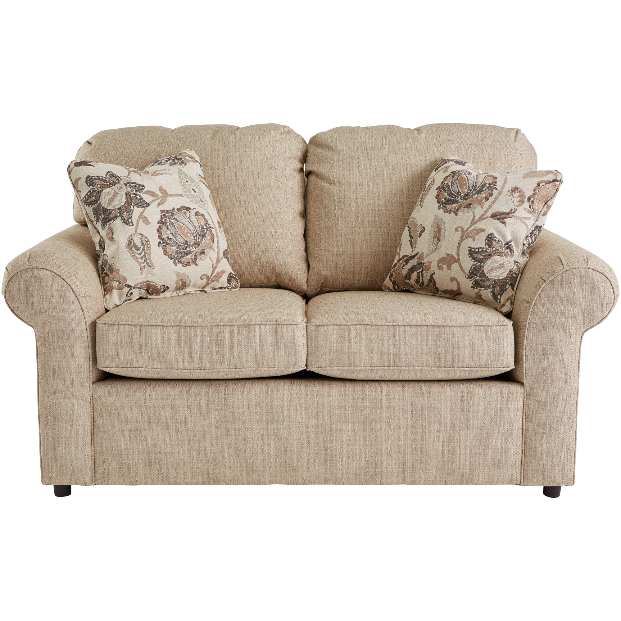 Dimensions By England   Burke Bisque Loveseat Sofa