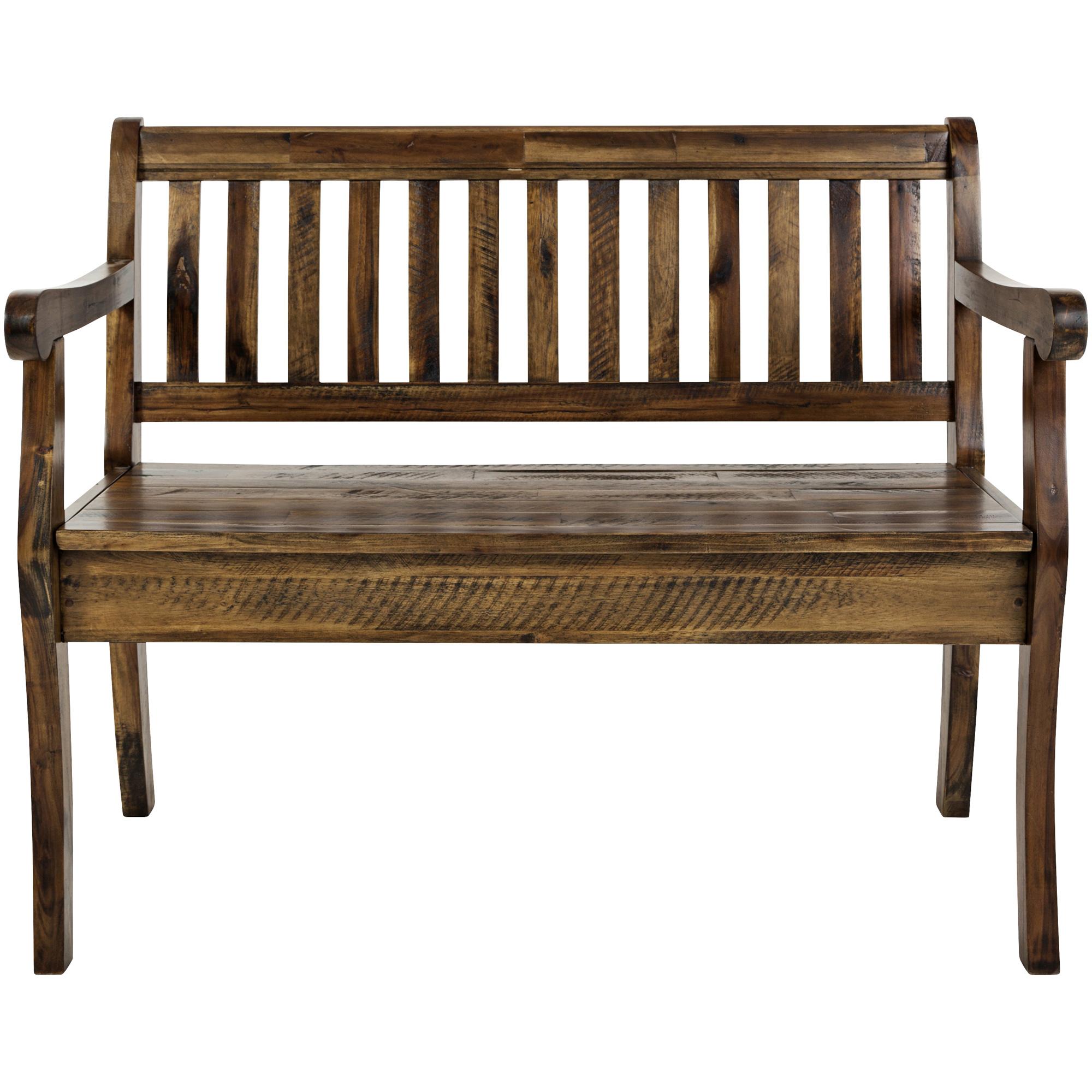 Jofran | Artisans Craft Brown Storage Bench Chair