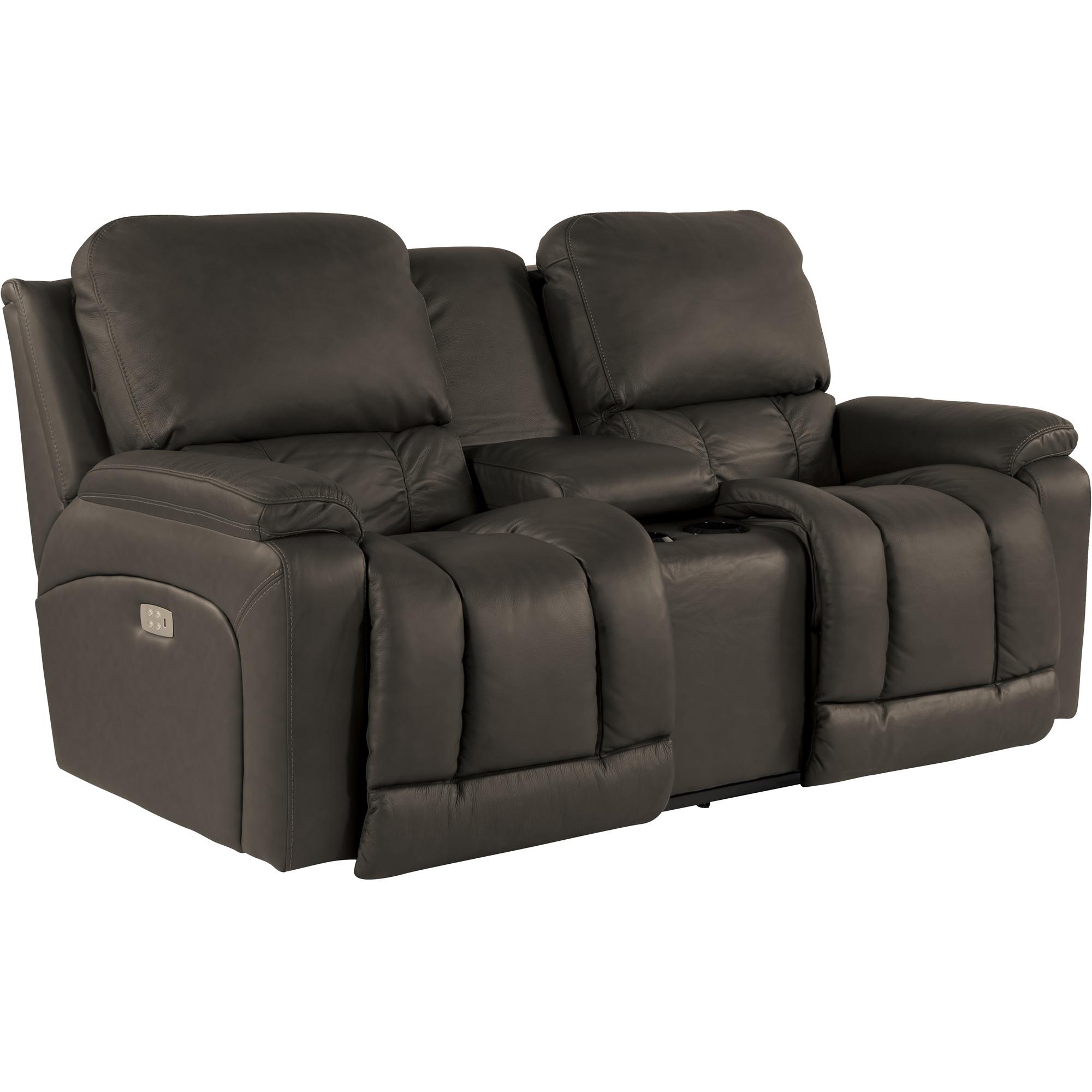 Prime Greyson Chocolate Power Plus Reclining Console Loveseat Machost Co Dining Chair Design Ideas Machostcouk