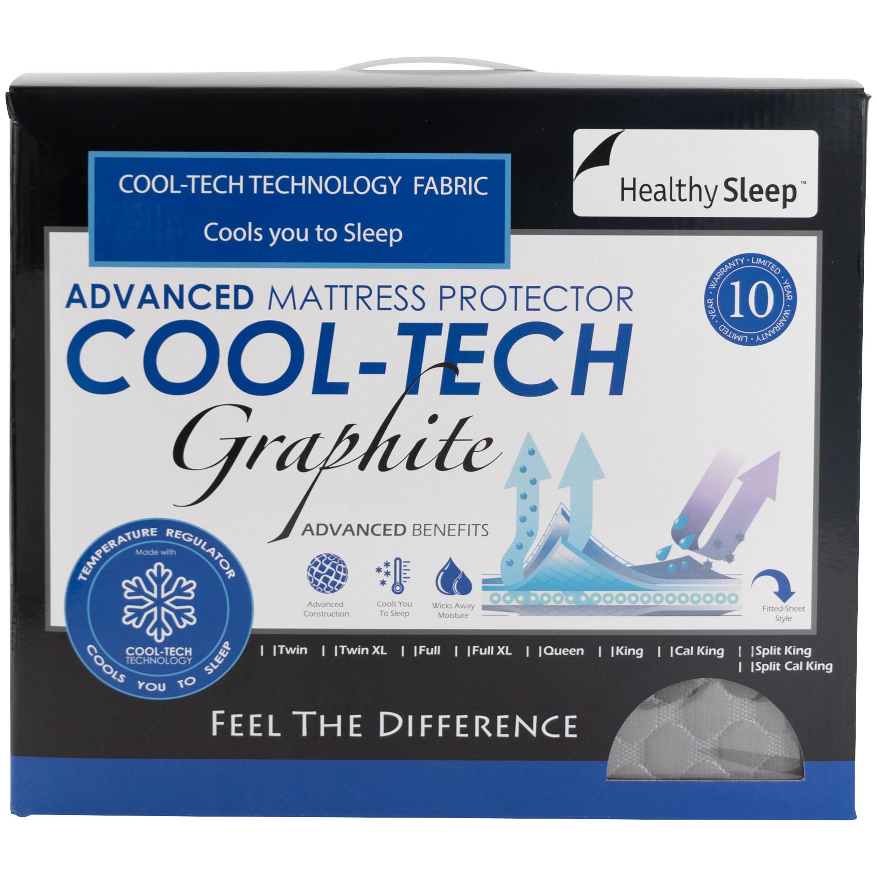 Gbs Enterprises | Cool-Tech Black Twin Mattress Protector