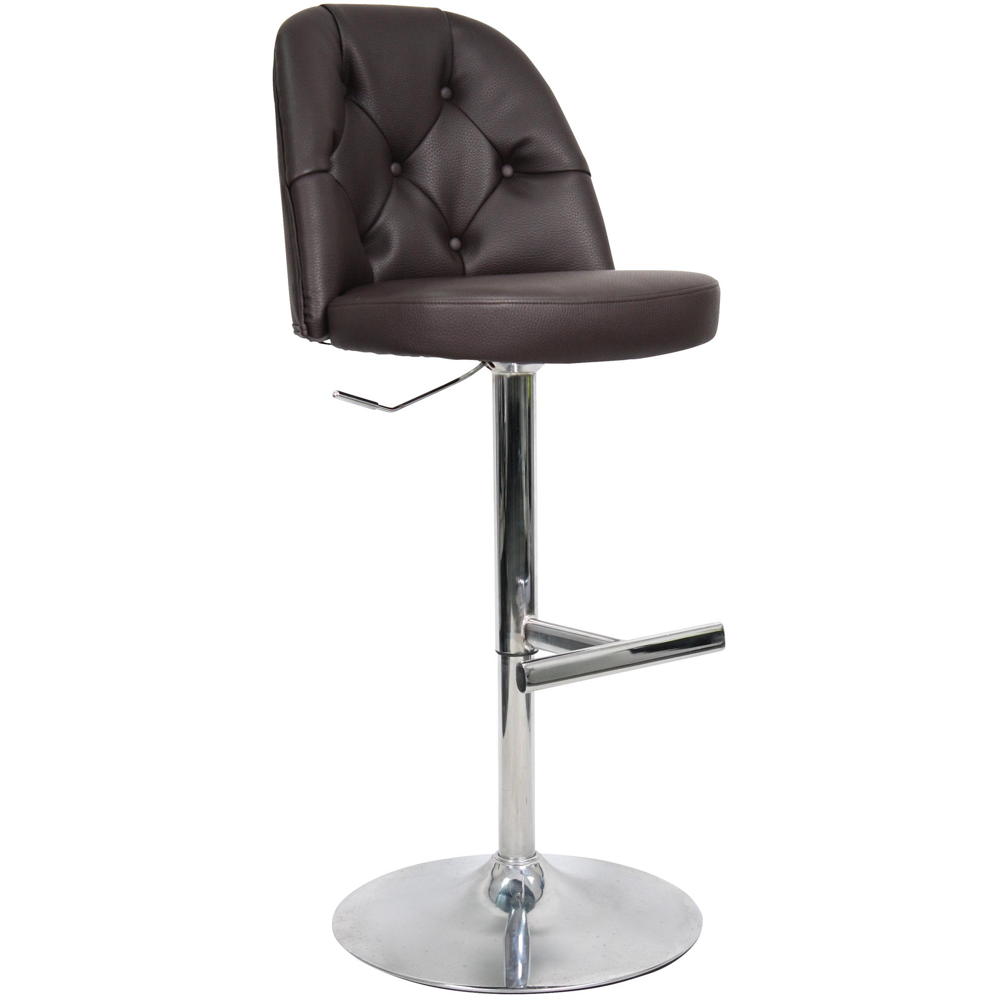 Whalen Furniture | Archer Dark Brown Adjustable Stool