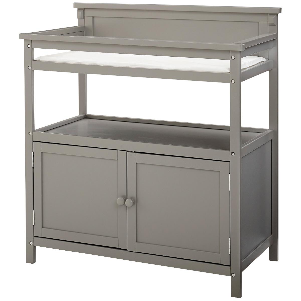 Westwood Design | Emery Gray Changing Table with Doors