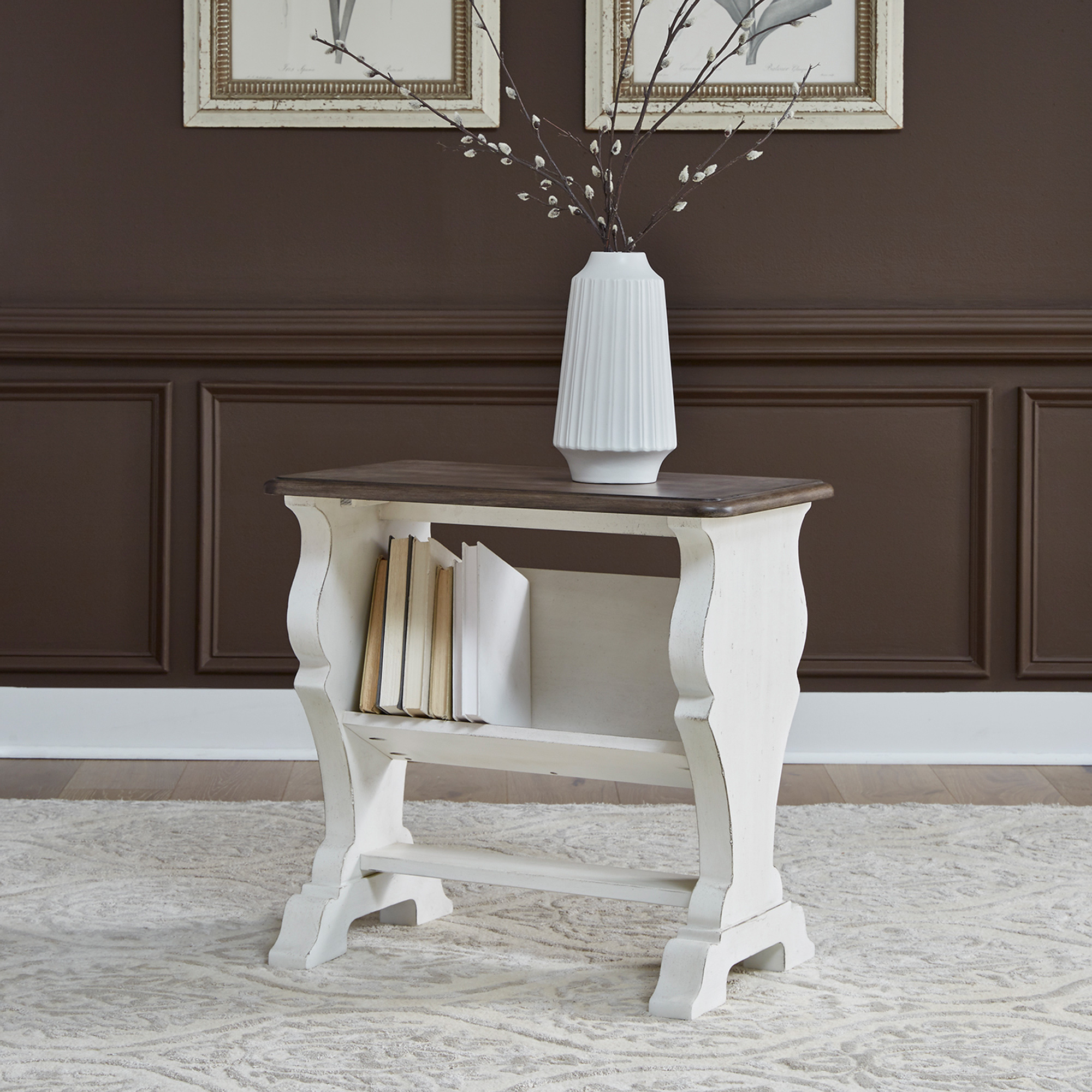Liberty Furniture | Abbey Road White Library Chairside Table