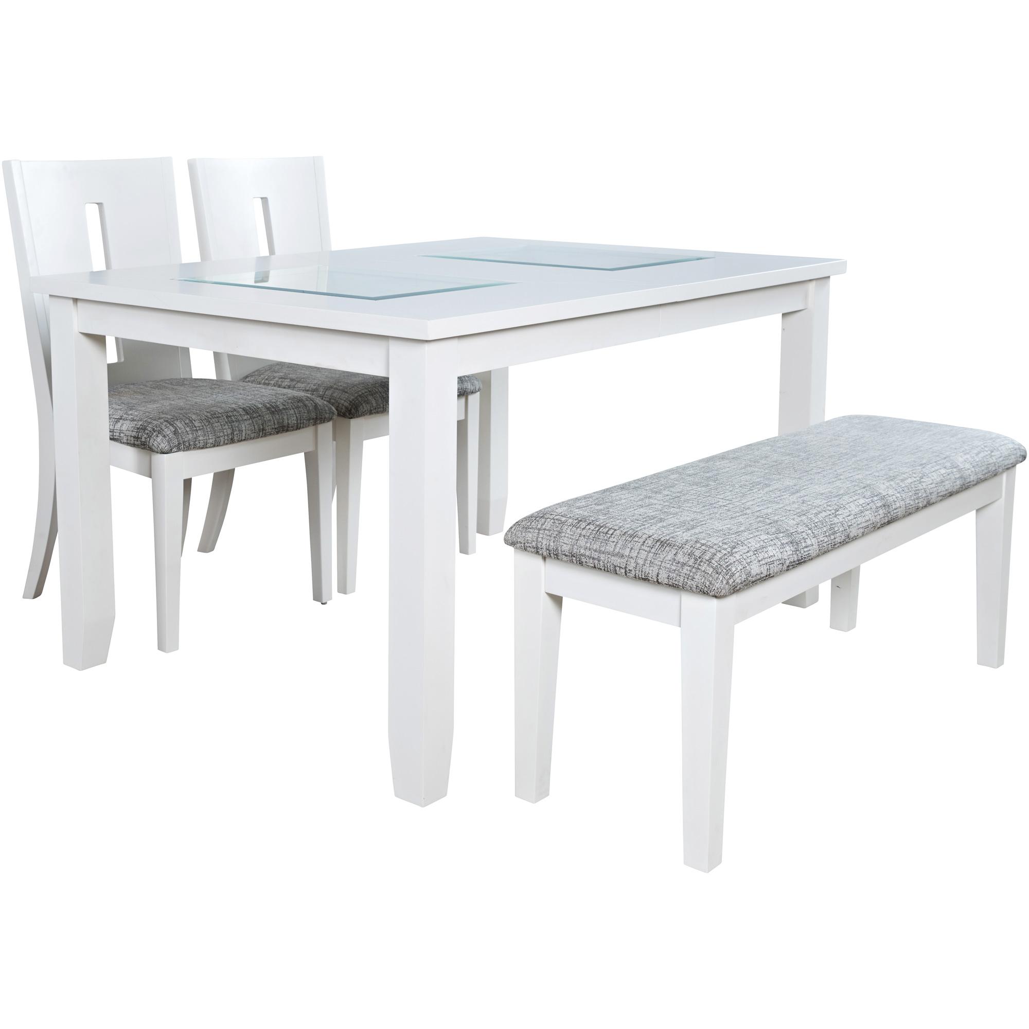 Jofran, Inc. | Urban Icon White Rectangular 5 Piece Dining Set