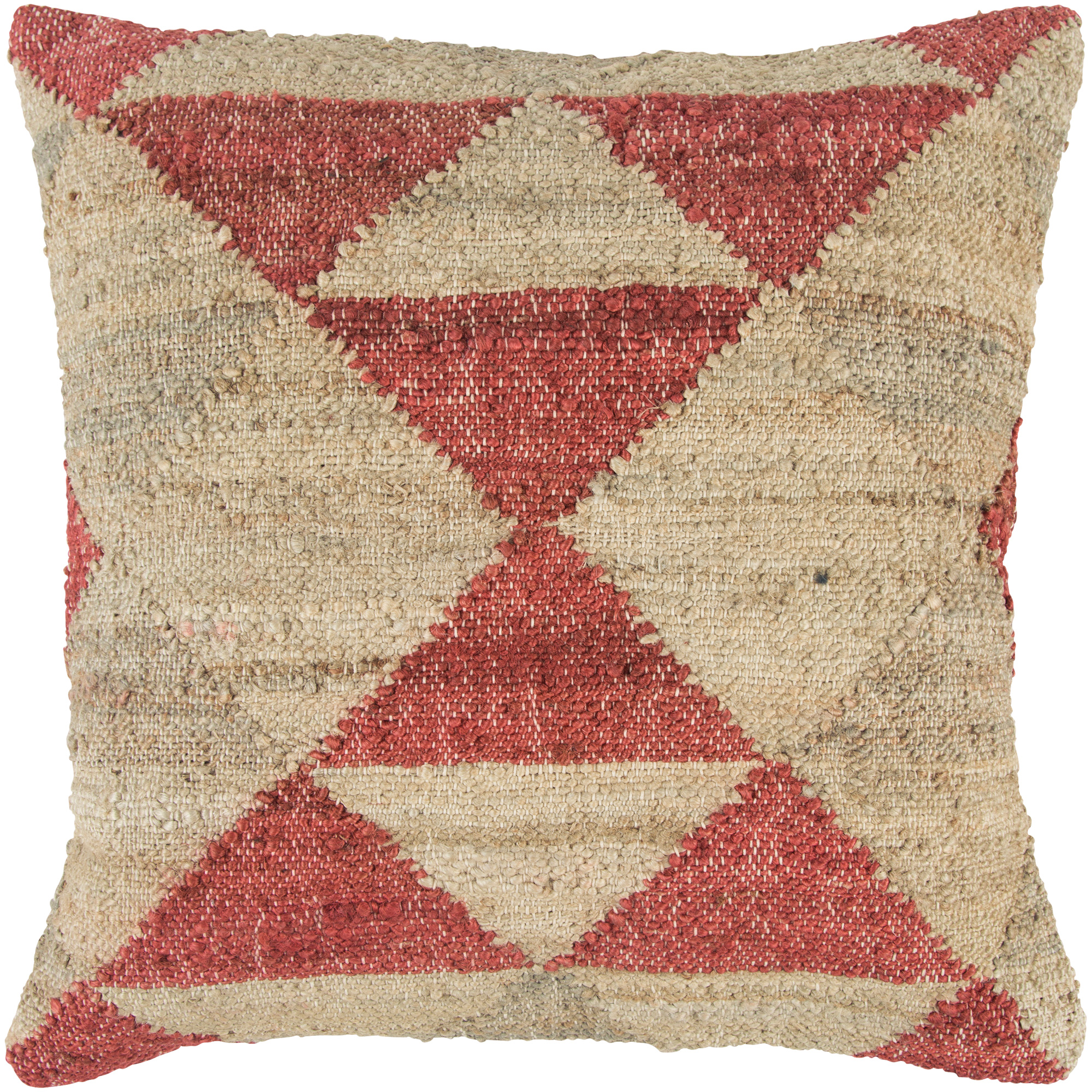 Rizzy Home | Aztec Neutral Vintage Mission Down Pillow | Red