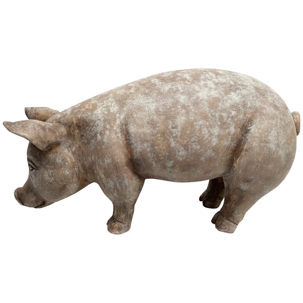 Promart | Terracotta Puerco Rustic Pig Sculpture