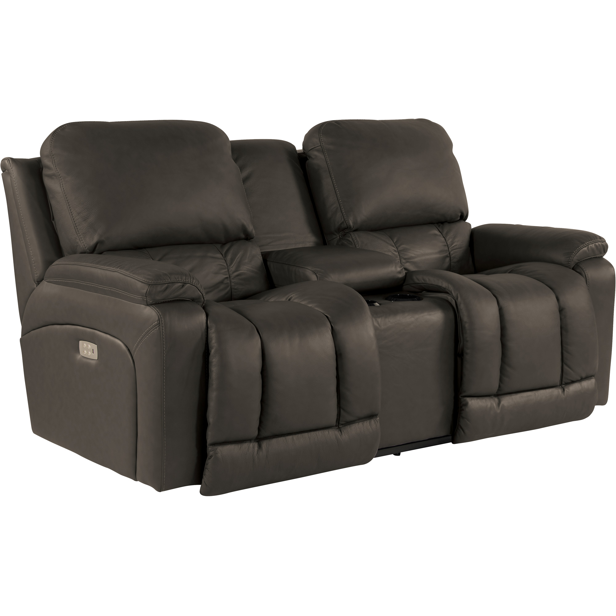 La-Z-Boy | Greyson Shitake Power Plus Reclining Console Loveseat Sofa