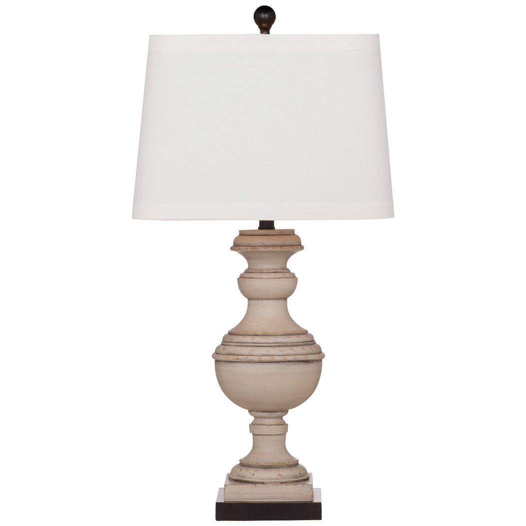 Bassett Mirror Co | Lindstrom Whitewashed Table Lamp