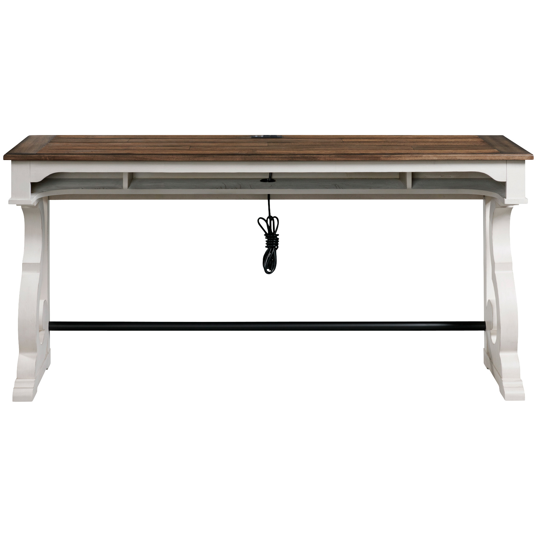 Intercon | Drake Rustic White Bar Table