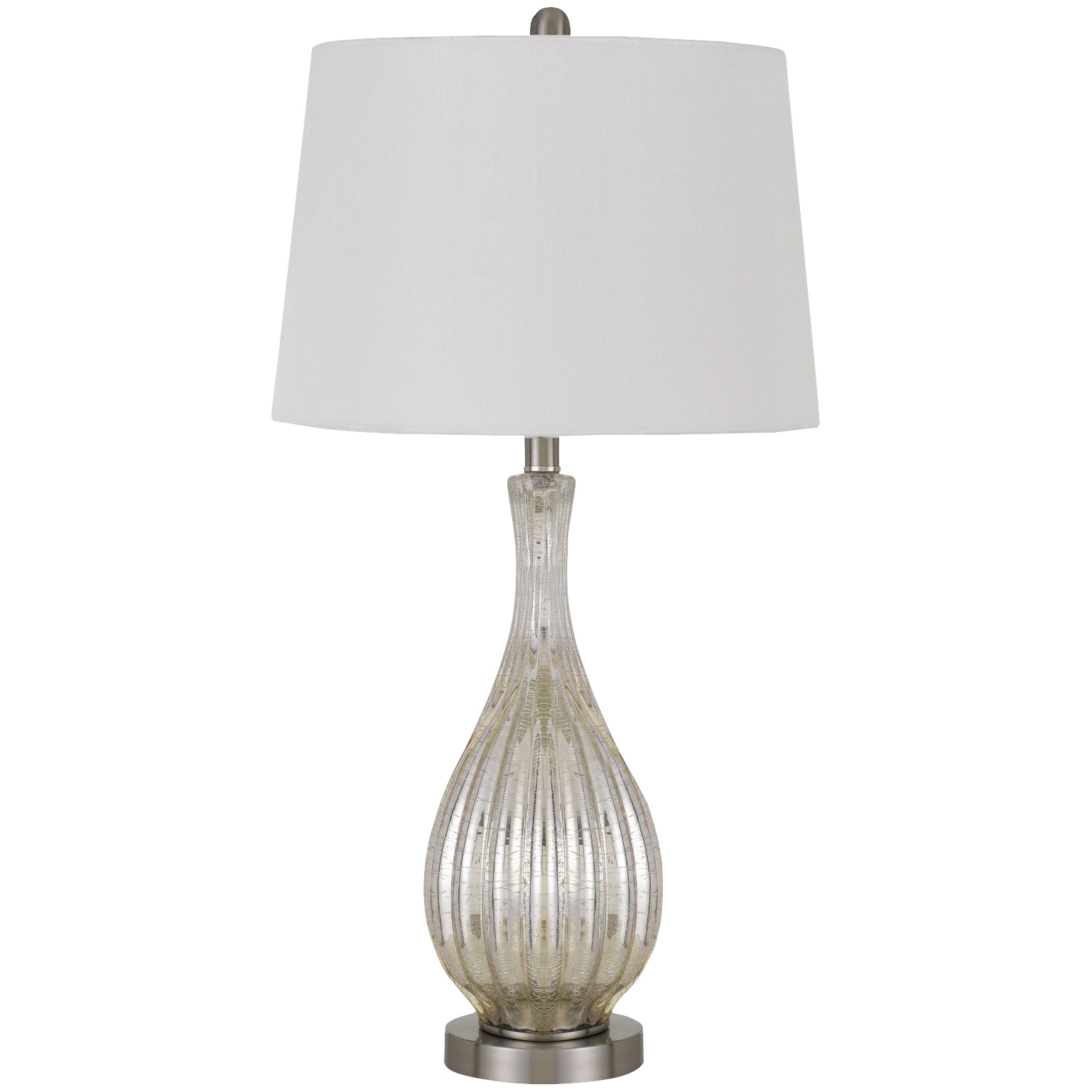 Cal Lighting | Goch Silver Set of 2 Table Lamps