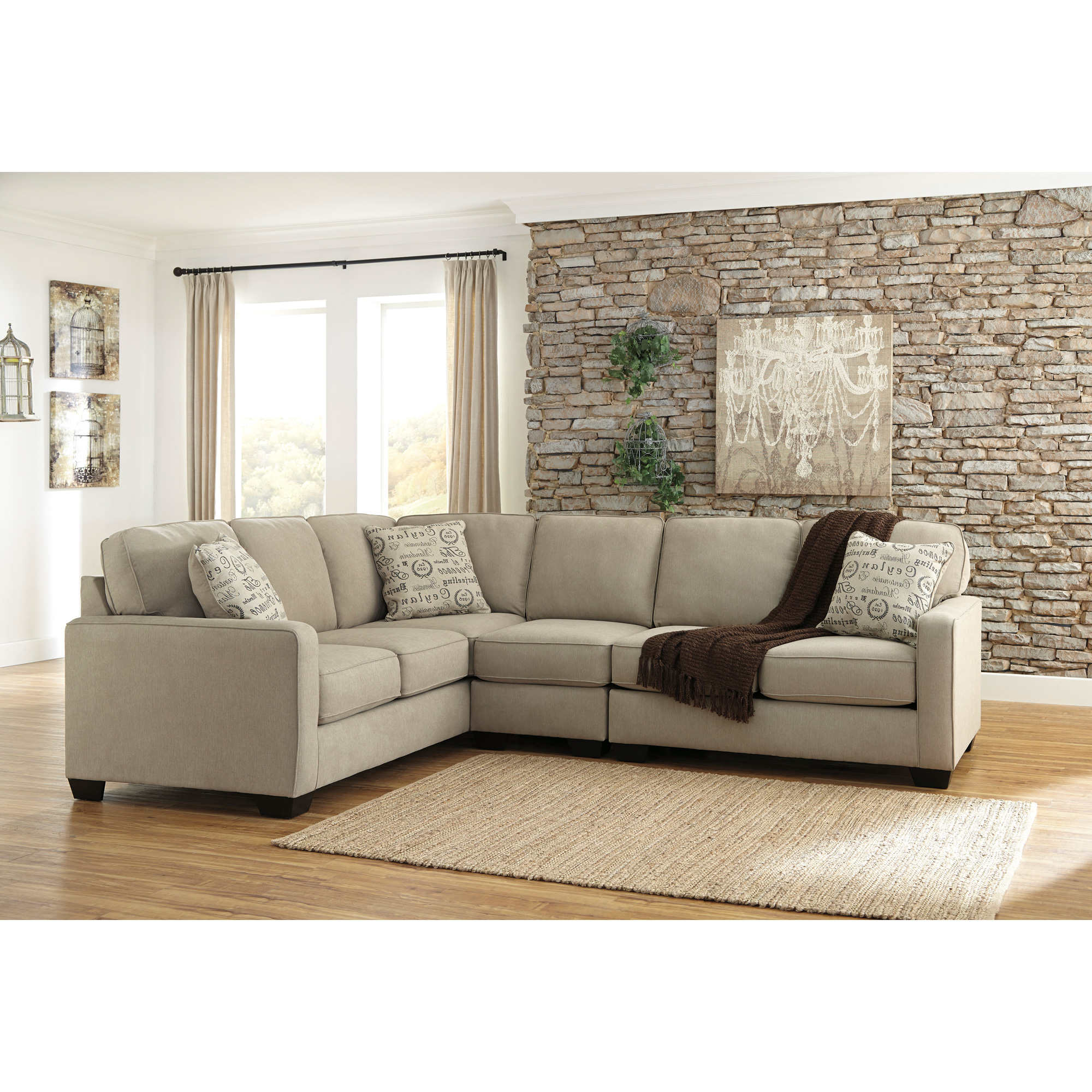 Ashley Furniture | Alenya Quartz 3 Piece Right Sectional Sofa