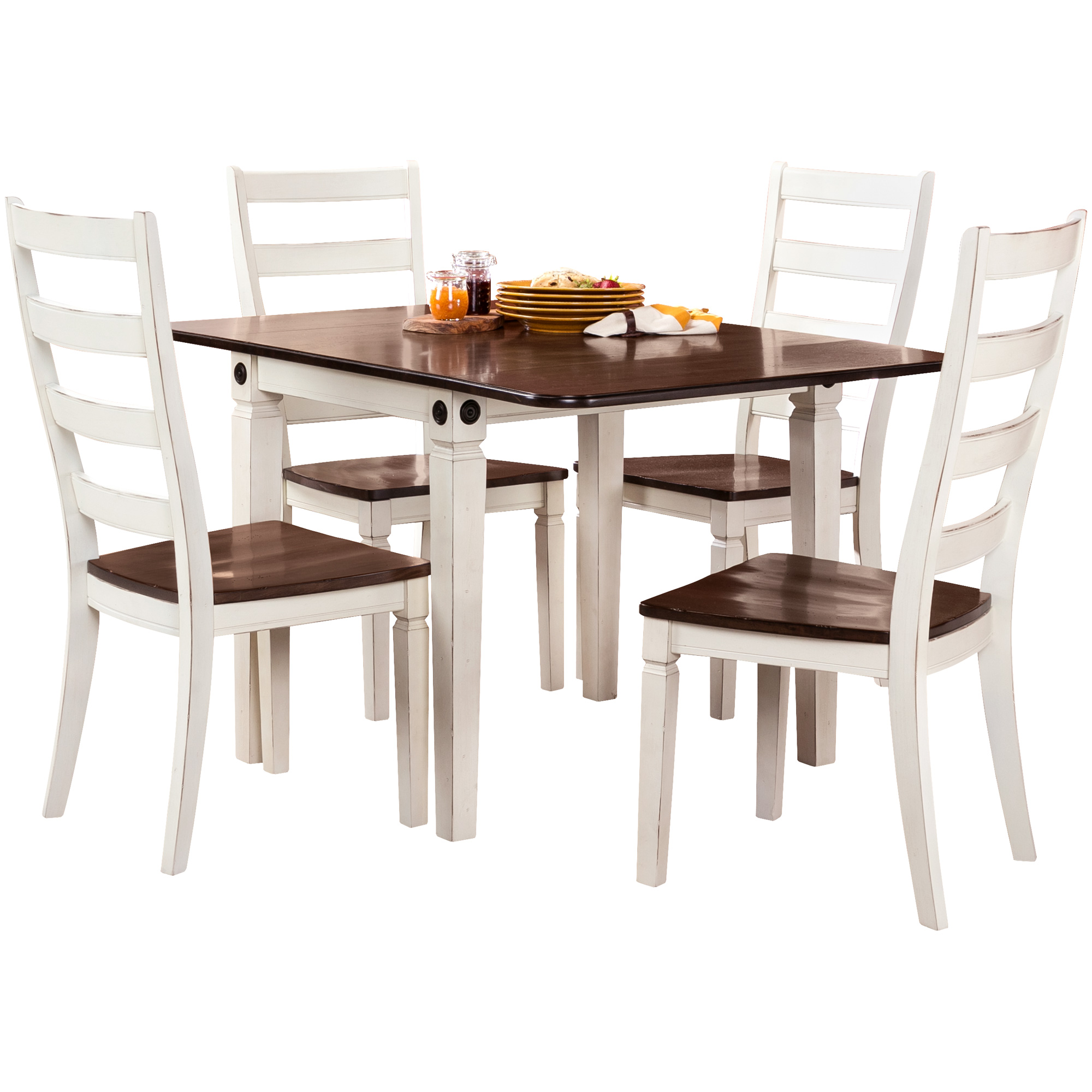 Intercon | Glennwood 5 Piece Antique White Dining Set
