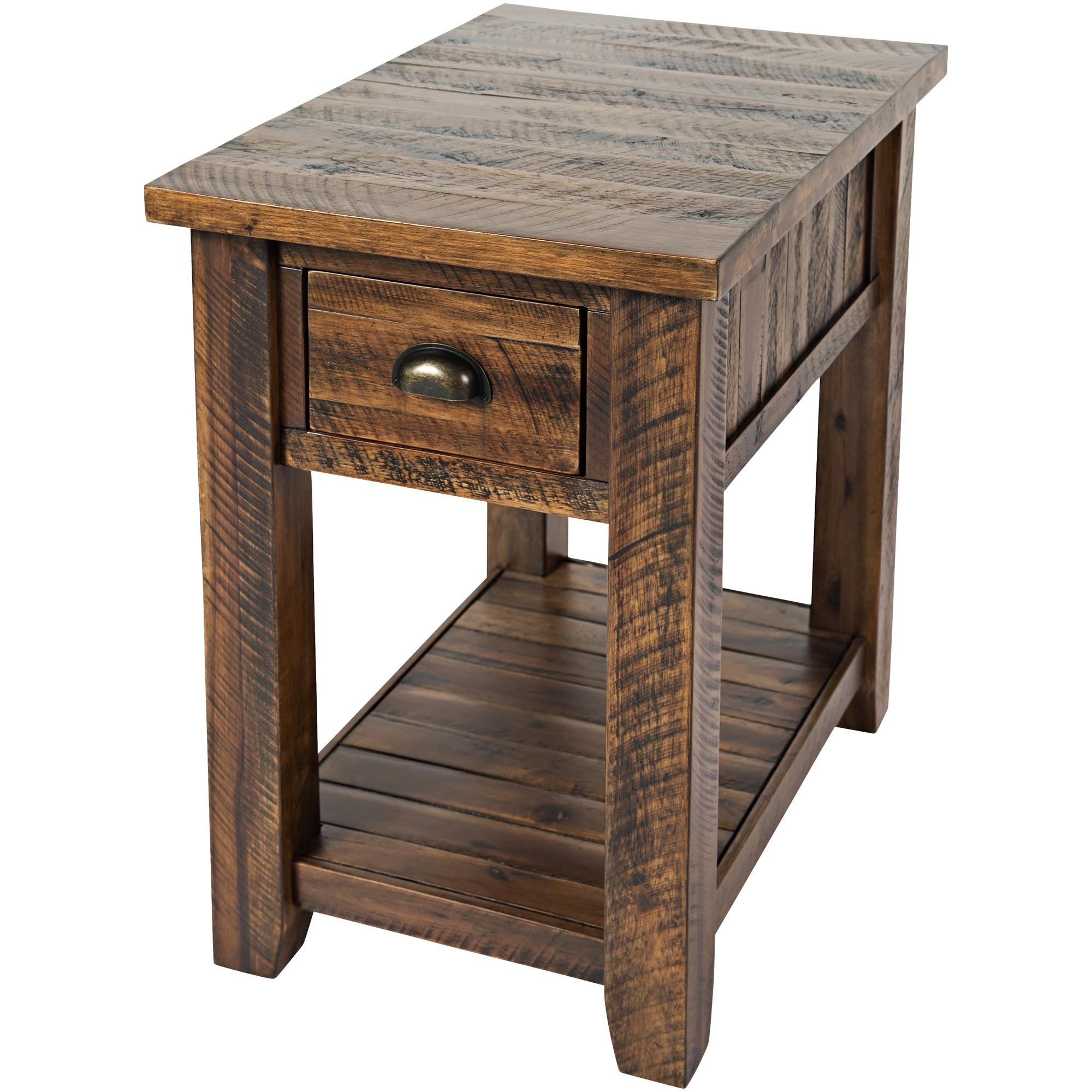 Jofran | Artisans Craft Brown Chairside Table