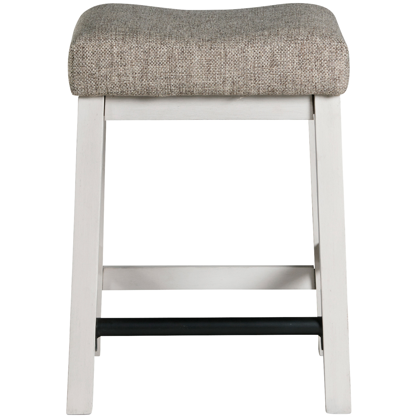 Intercon | Drake Rustic White Backless Barstool
