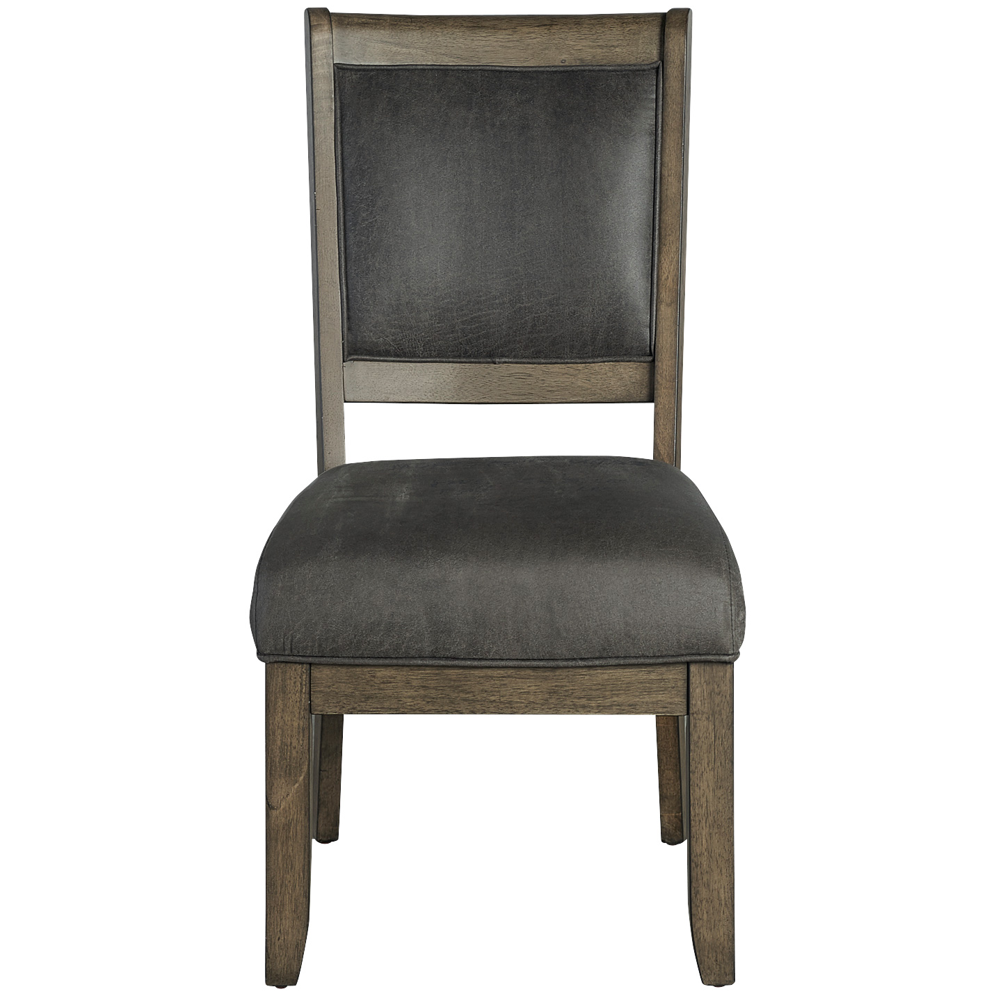 Whalen Furniture | Lawton Rustic Brown Upholstered Side Chair