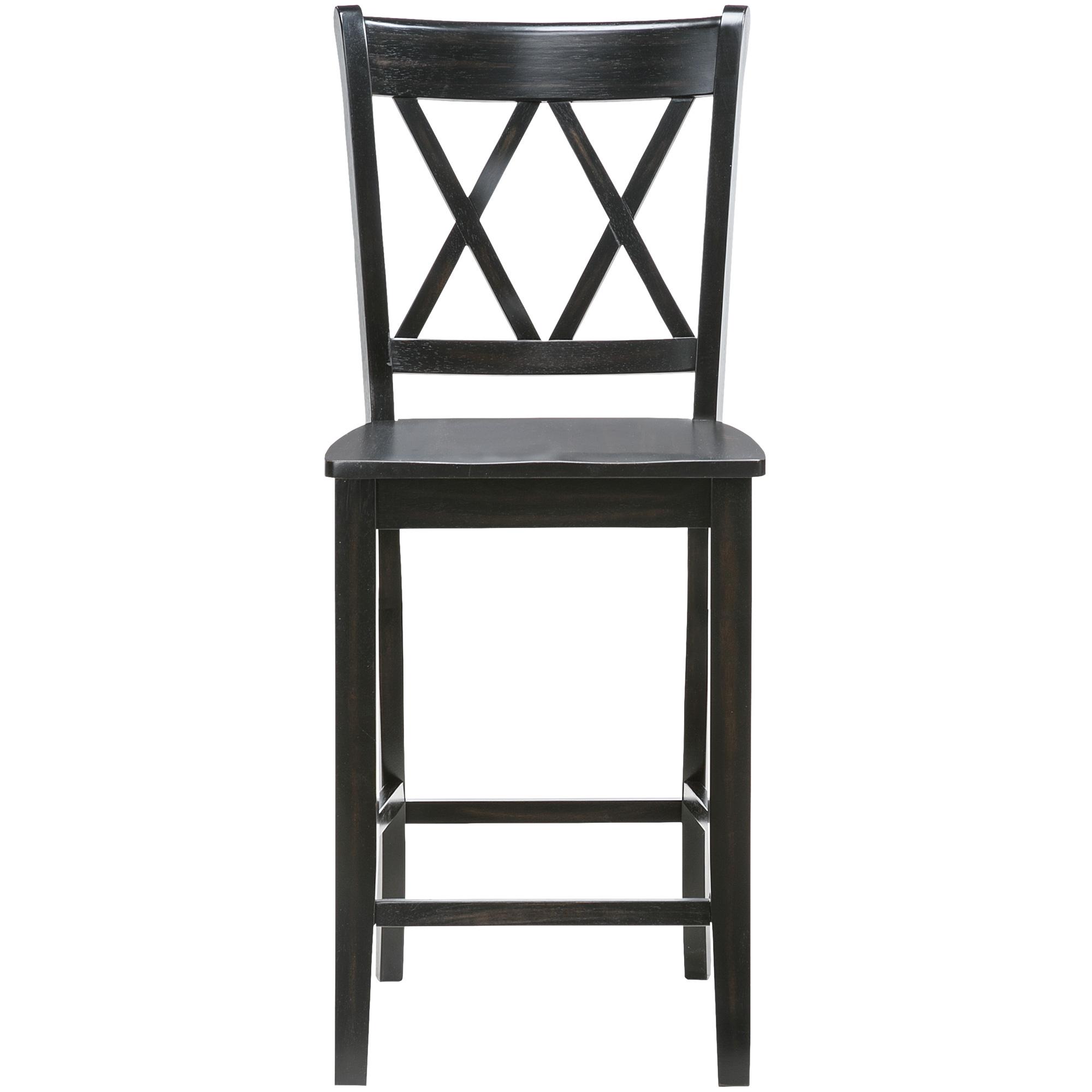 Slumberland Furniture Platinum 30 Inch Oak X Back Bar Stool