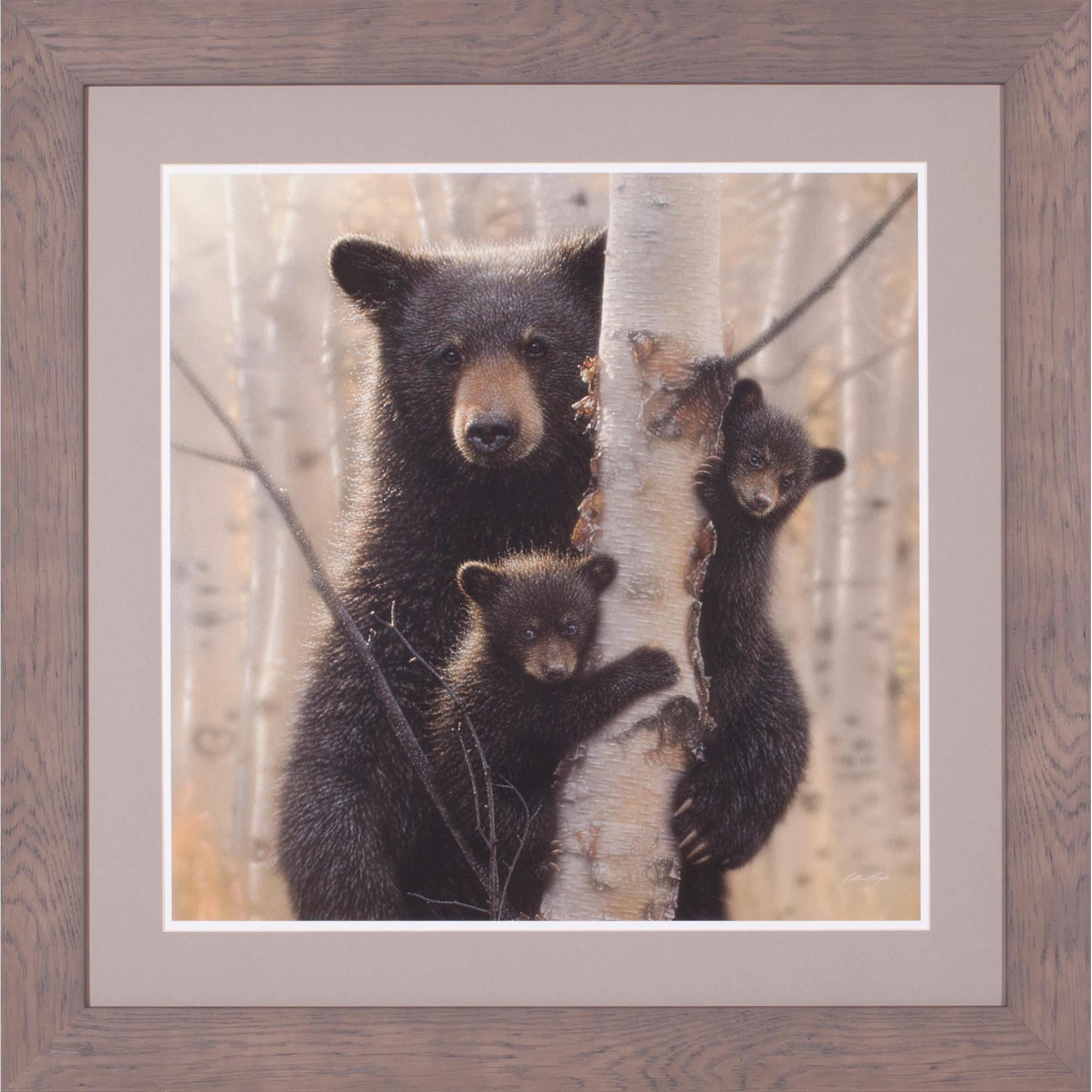 Art Effects | Black Bear Mother and Cubs Wall Art