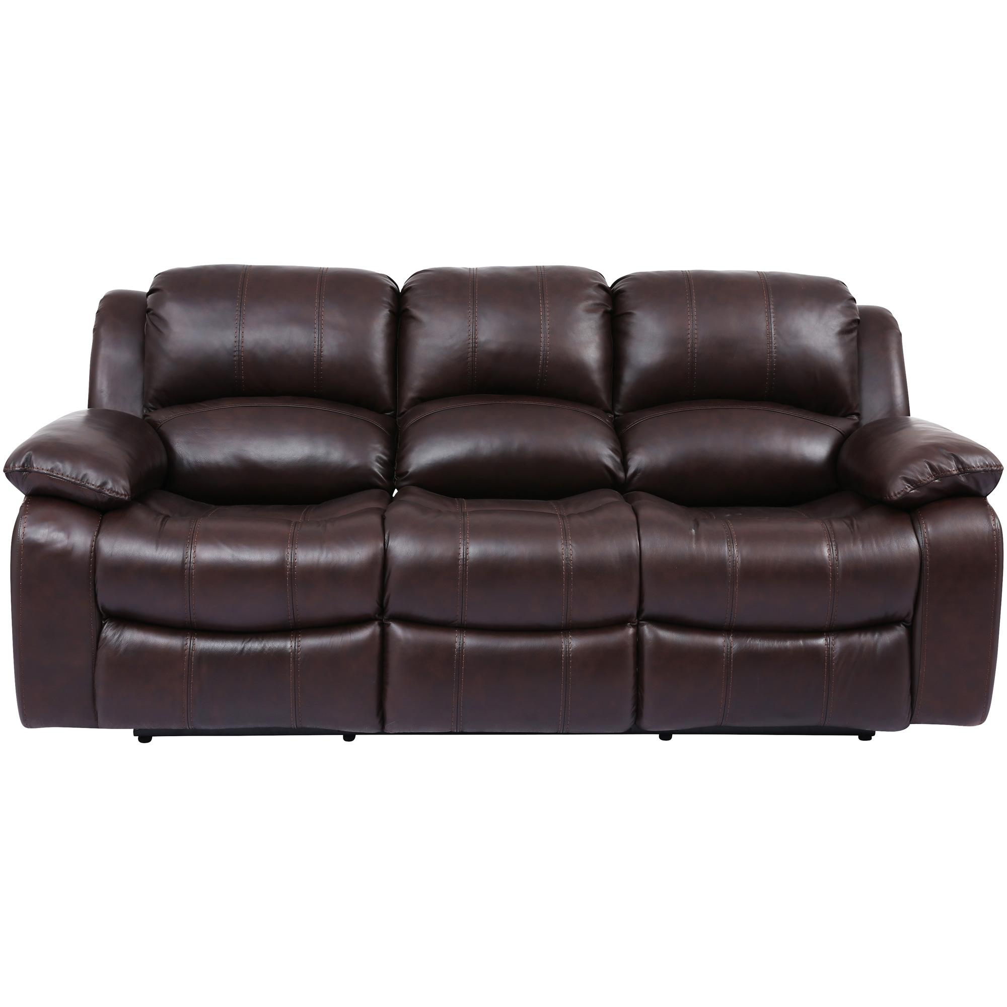 Wah Cheers | Ender Brown Leather Reclining Sofa