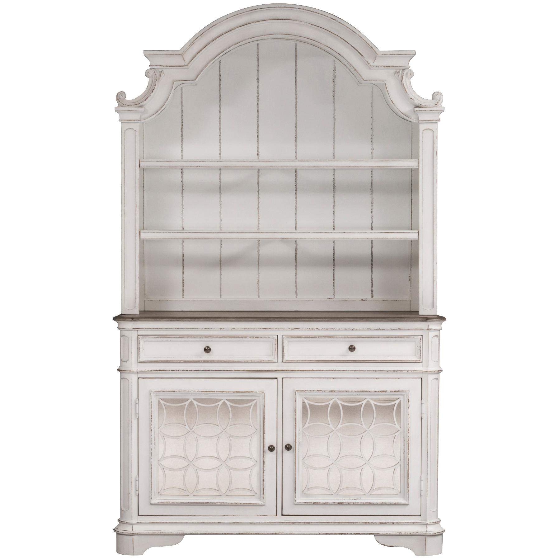 Liberty Furniture | Magnolia Manor White Buffet and Hutch