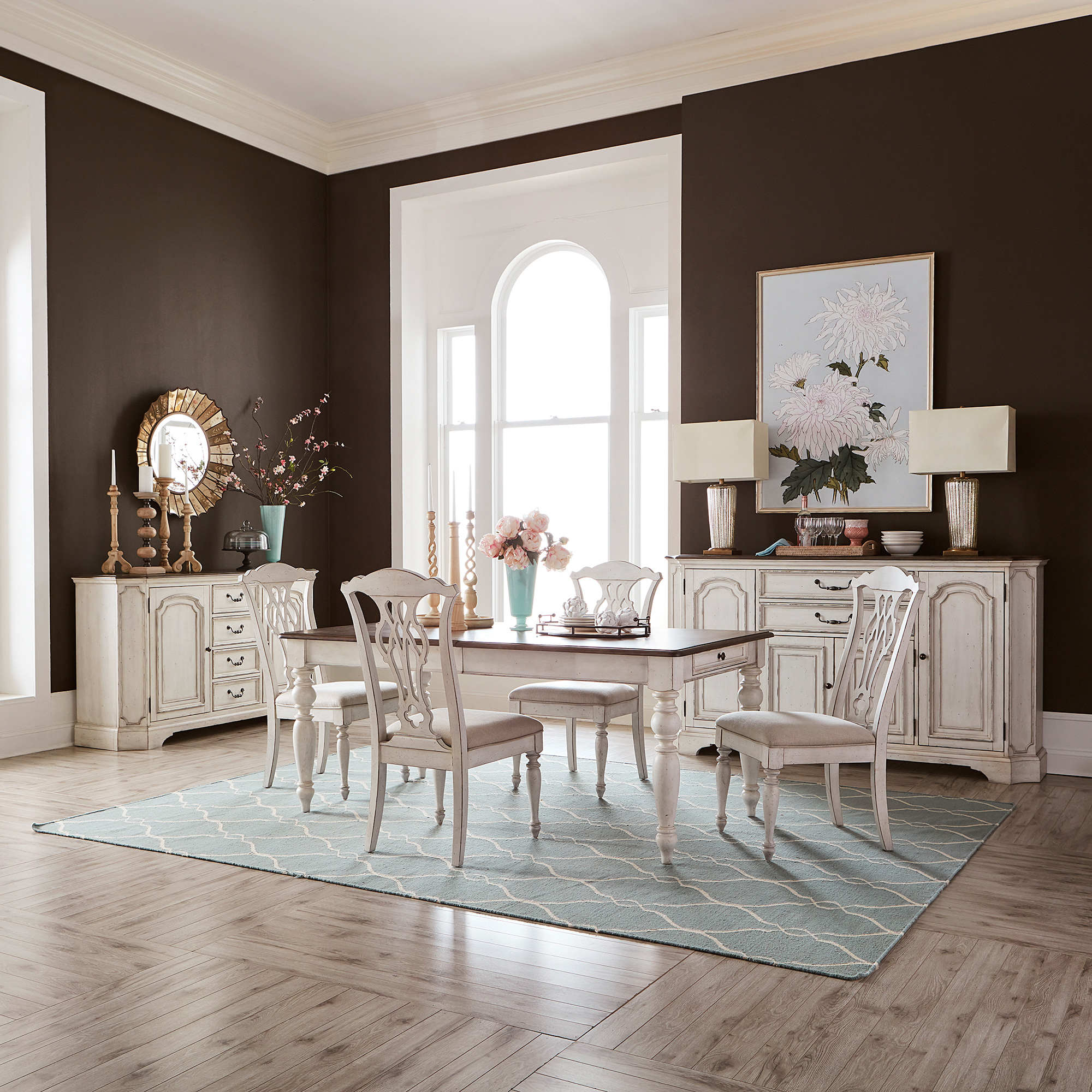 Liberty Furniture | Abbey Road White 5 Piece Dining Set