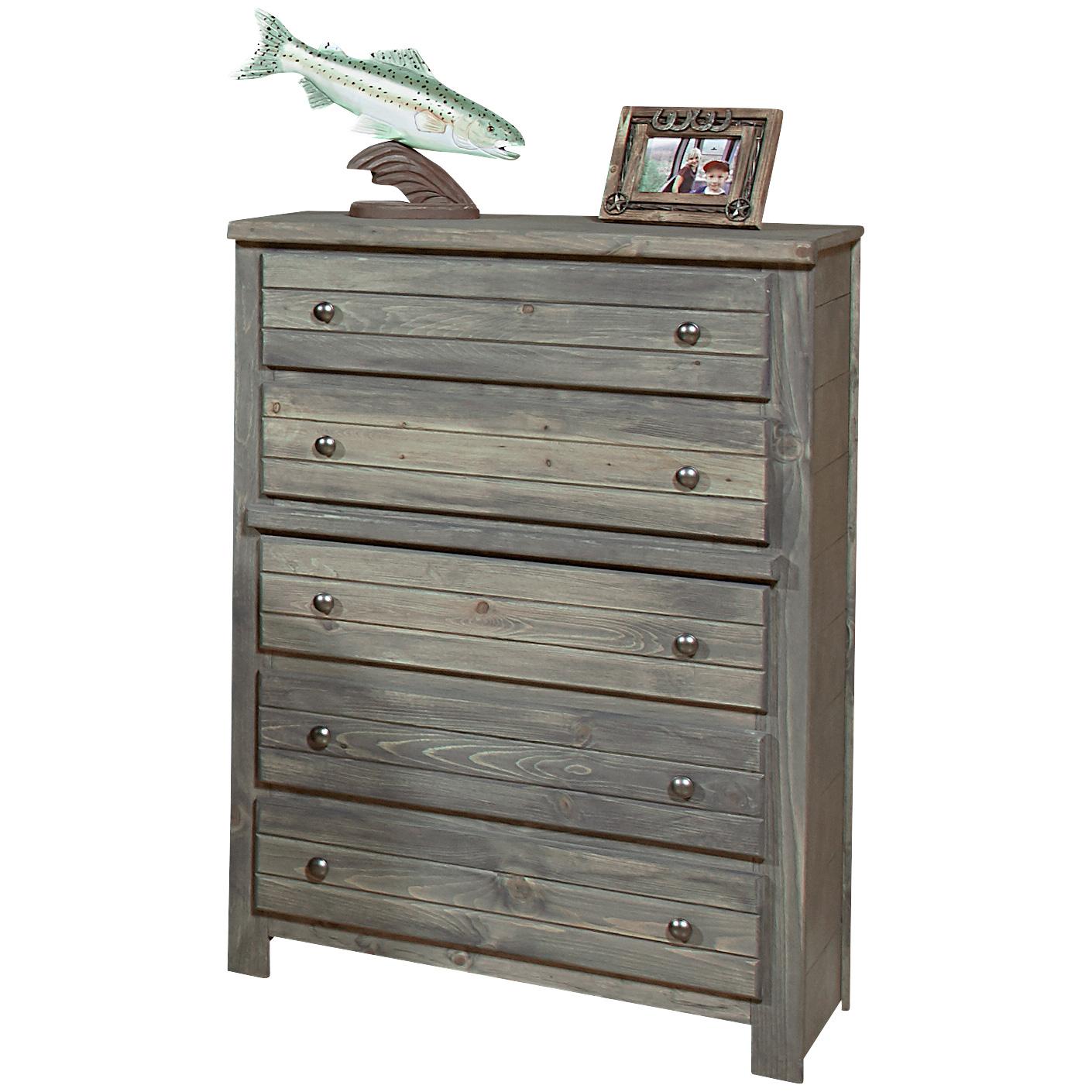 Trendwood Inc. | Bayview Driftwood 5 Drawer Chest