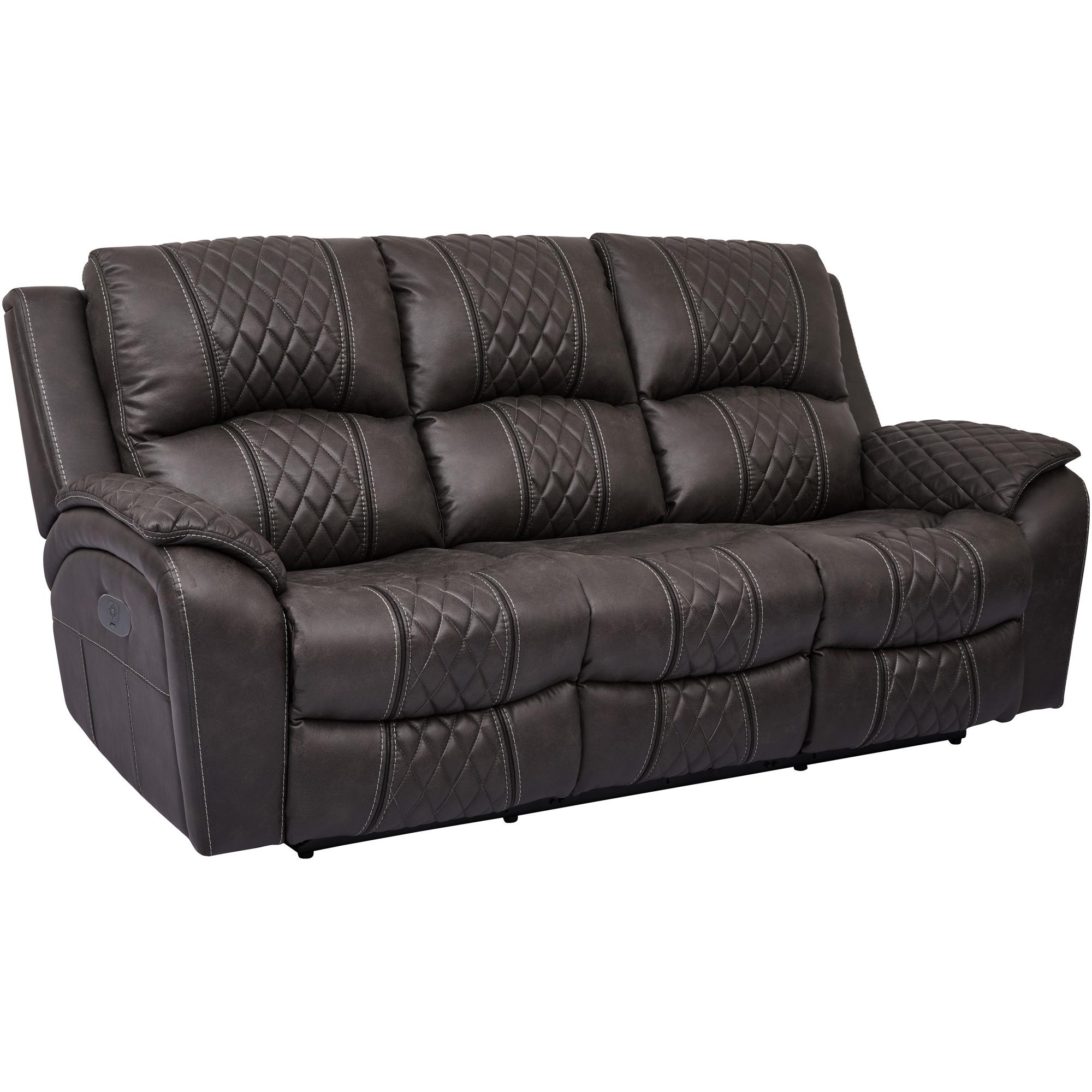 Wah Cheers | Starling Graphite Power Plus Reclining Sofa