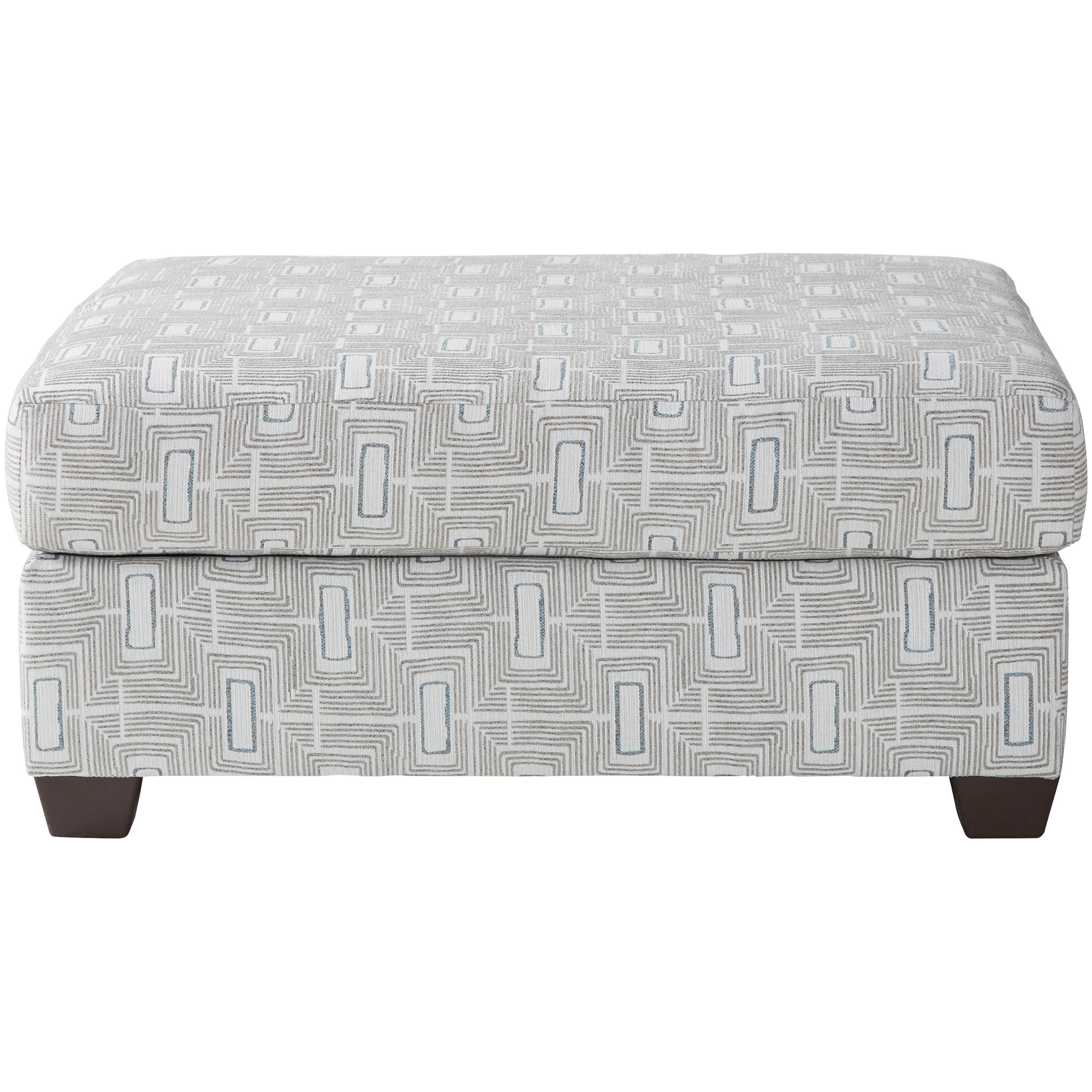 Serta Upholstery By Hughes Furniture | Asta Smoke Accent Ottoman