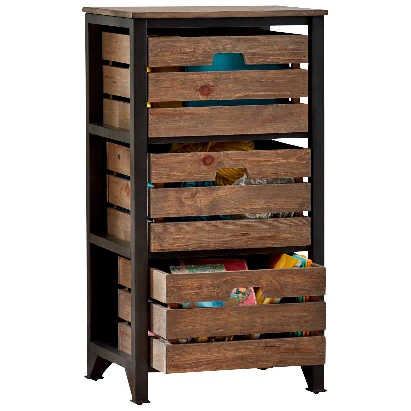 Martin Furniture | Sullivan Brown Small Crate Storage Chest