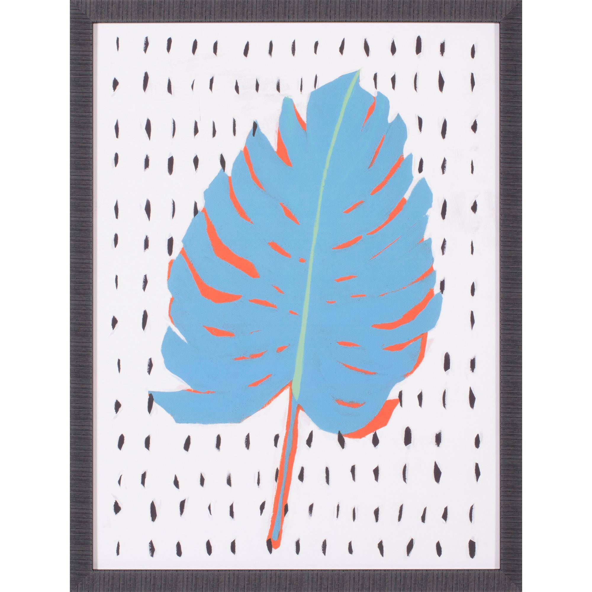 Art Effects | Blue Tropical Leaf II Wall Art