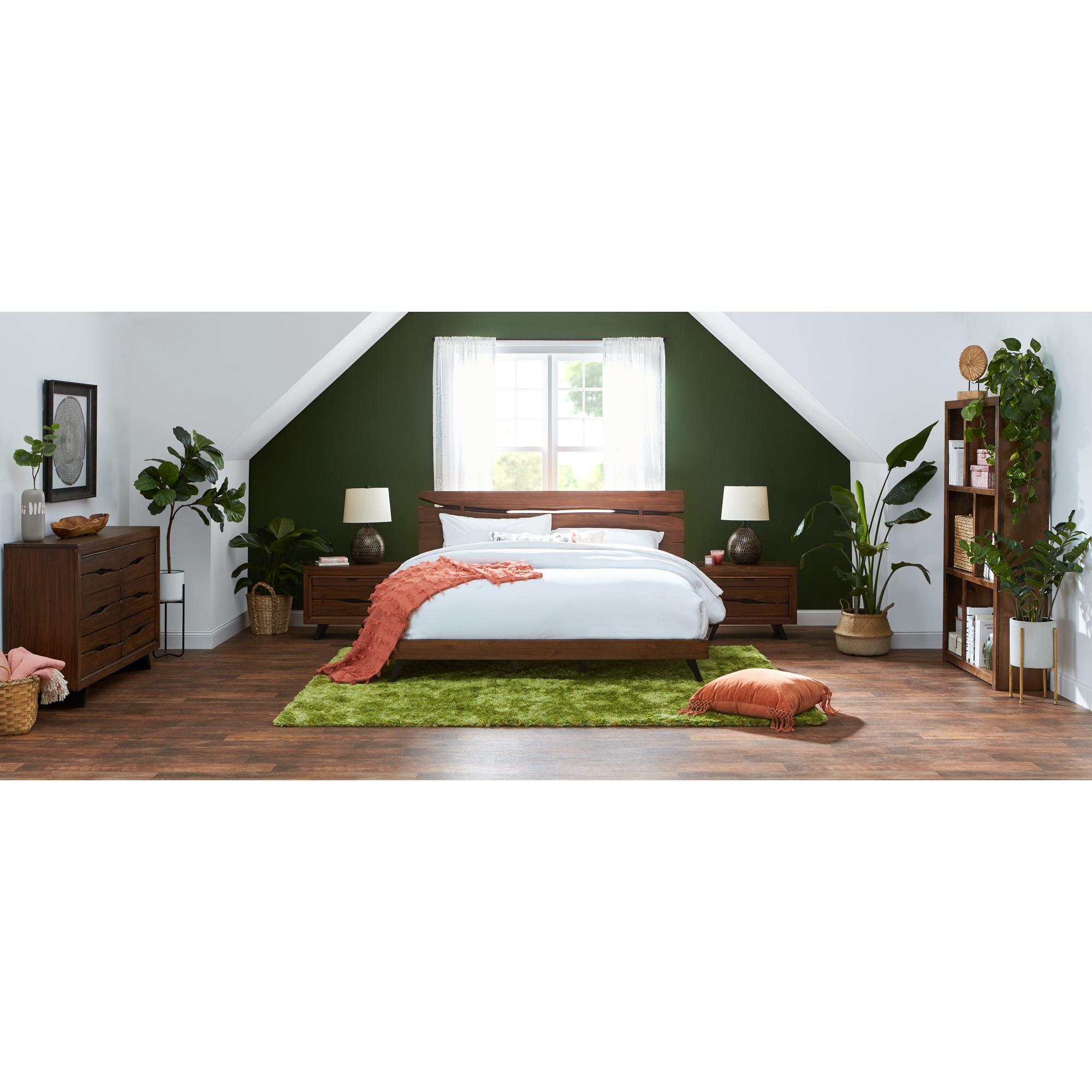 Rotta | Dana Point Rustic Brown Queen 4 Piece Room Group Bedroom Set