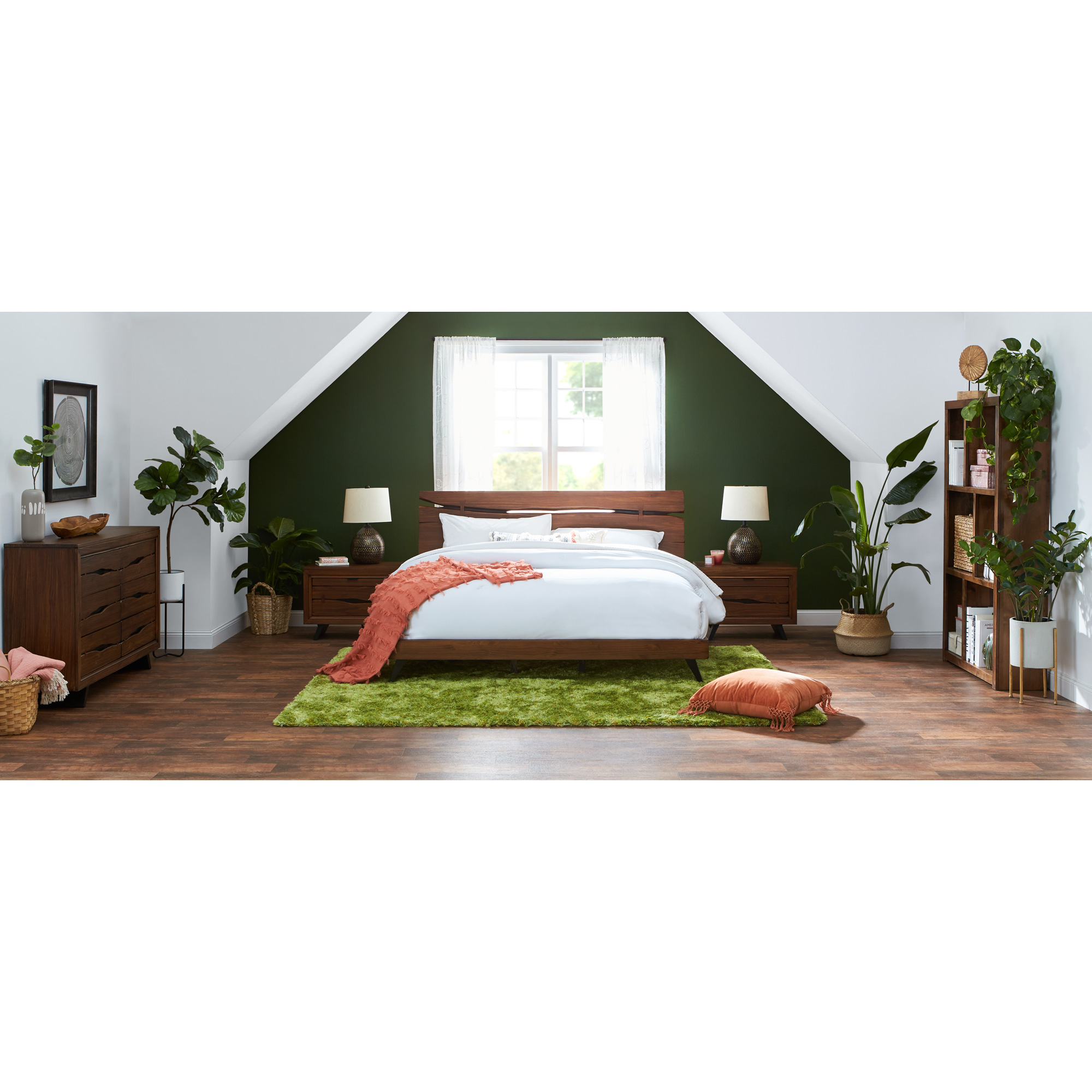 Rotta | Dana Point Rustic Brown Full 4 Piece Room Group Bedroom Set