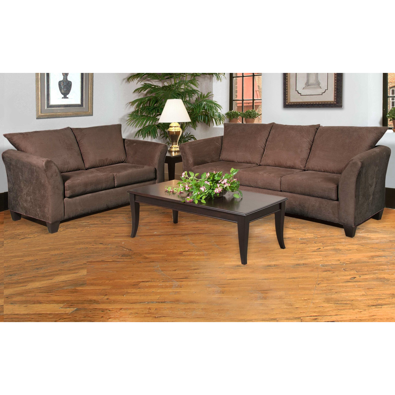 Serta Upholstery By Hughes Furniture | Buster Chocolate Loveseat Sofa
