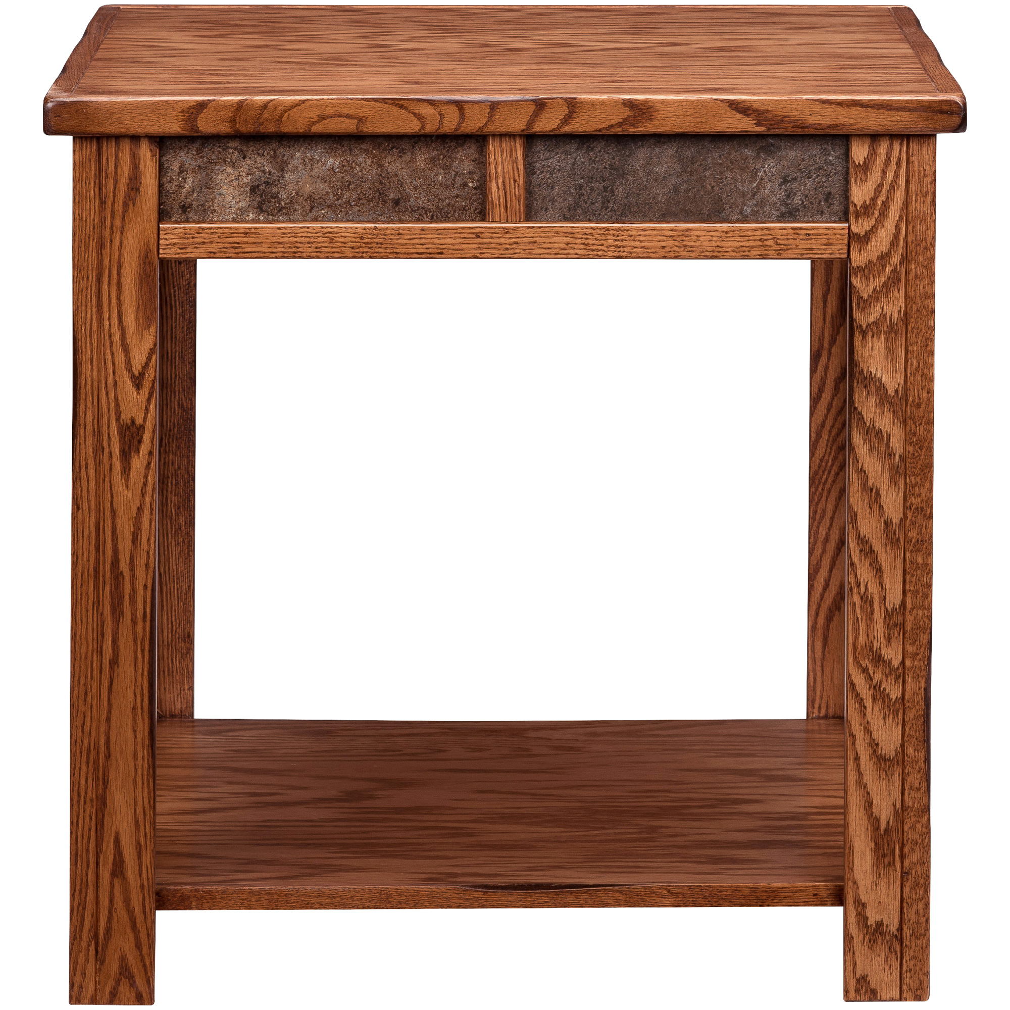 Legends Furniture | Evanston Antique Oak Rustic End Table