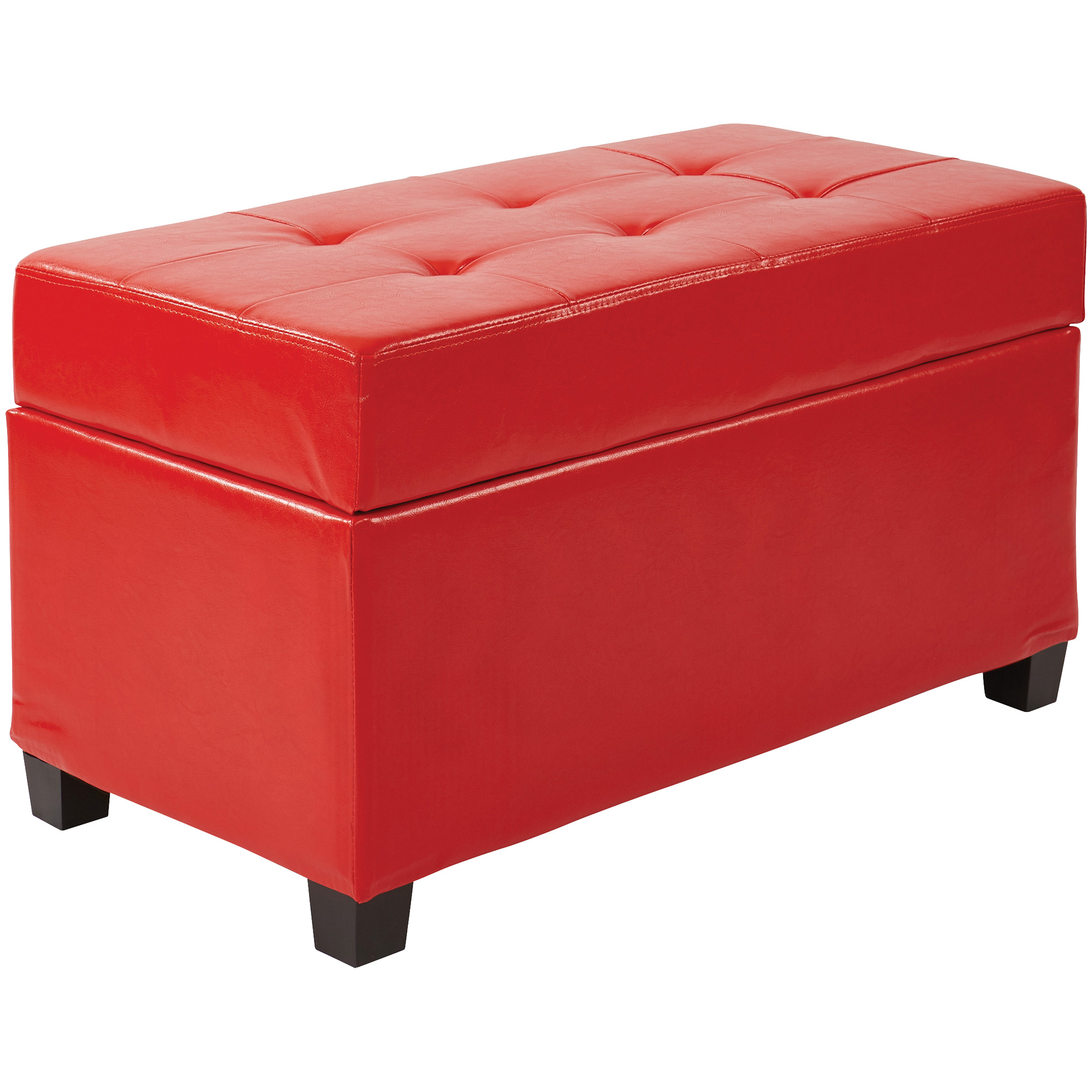 Office Star Products | Metro Red Storage Ottoman