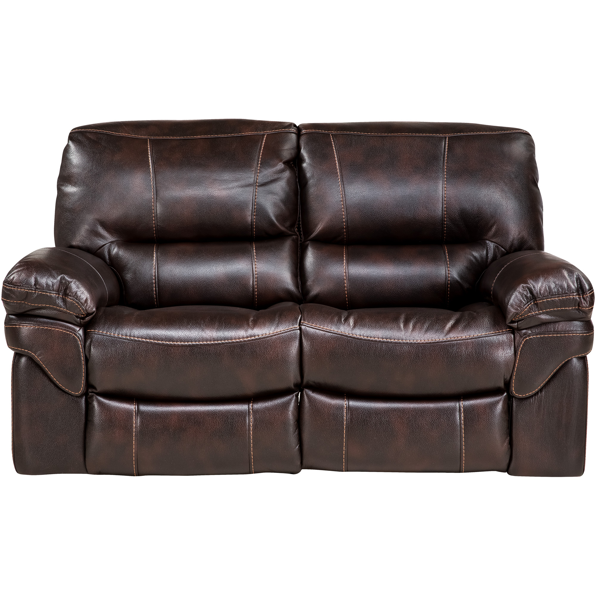 Wah Cheers | Valdez Brown Reclining Loveseat Sofa